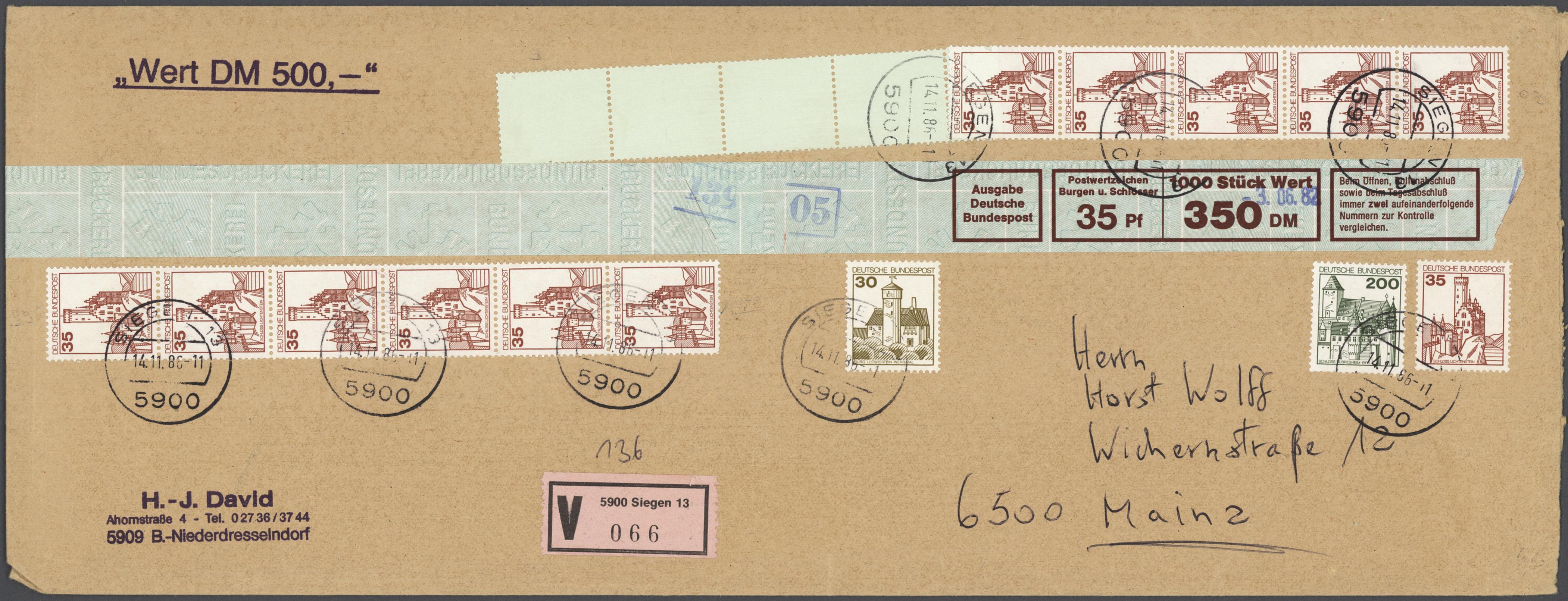 Lot 37698 - Bundesrepublik - Rollenmarken  -  Auktionshaus Christoph Gärtner GmbH & Co. KG Sale #44 Collections Germany