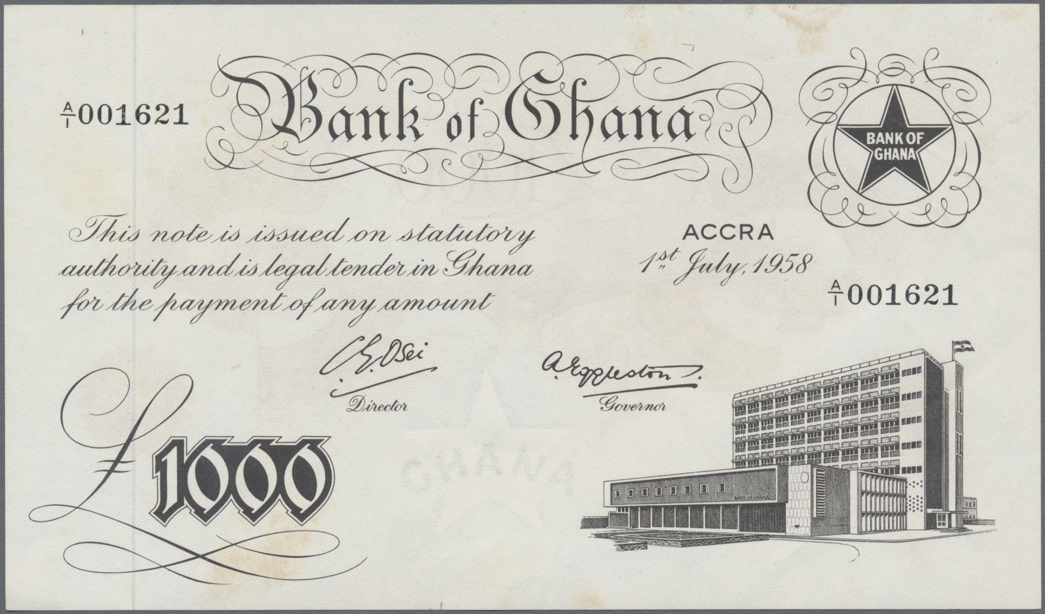 Lot 00357 - Ghana | Banknoten  -  Auktionshaus Christoph Gärtner GmbH & Co. KG Sale #48 The Banknotes