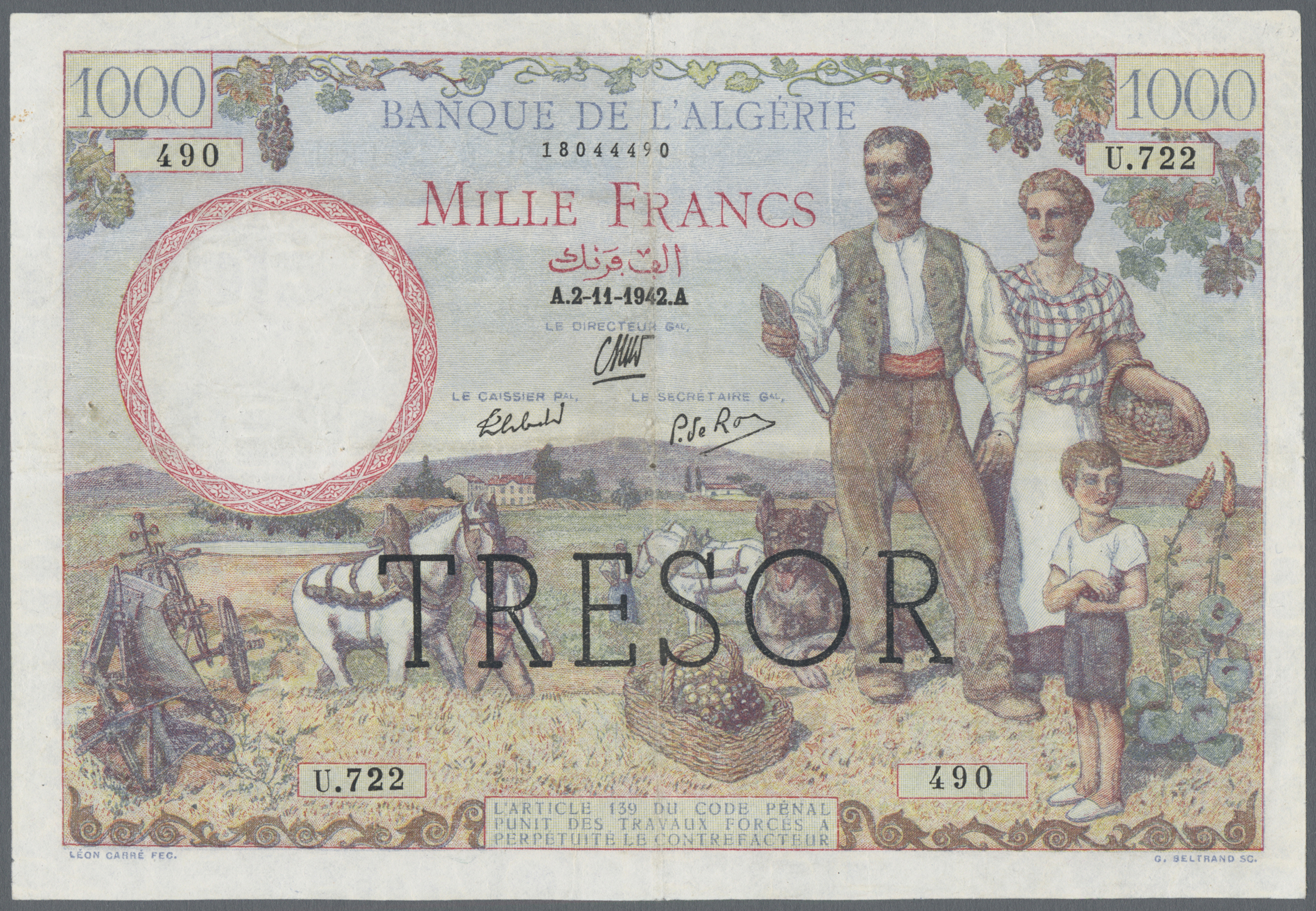 Lot 255 - France / Frankreich | Banknoten  -  Auktionshaus Christoph Gärtner GmbH & Co. KG Sale #49 Coins and Banknotes