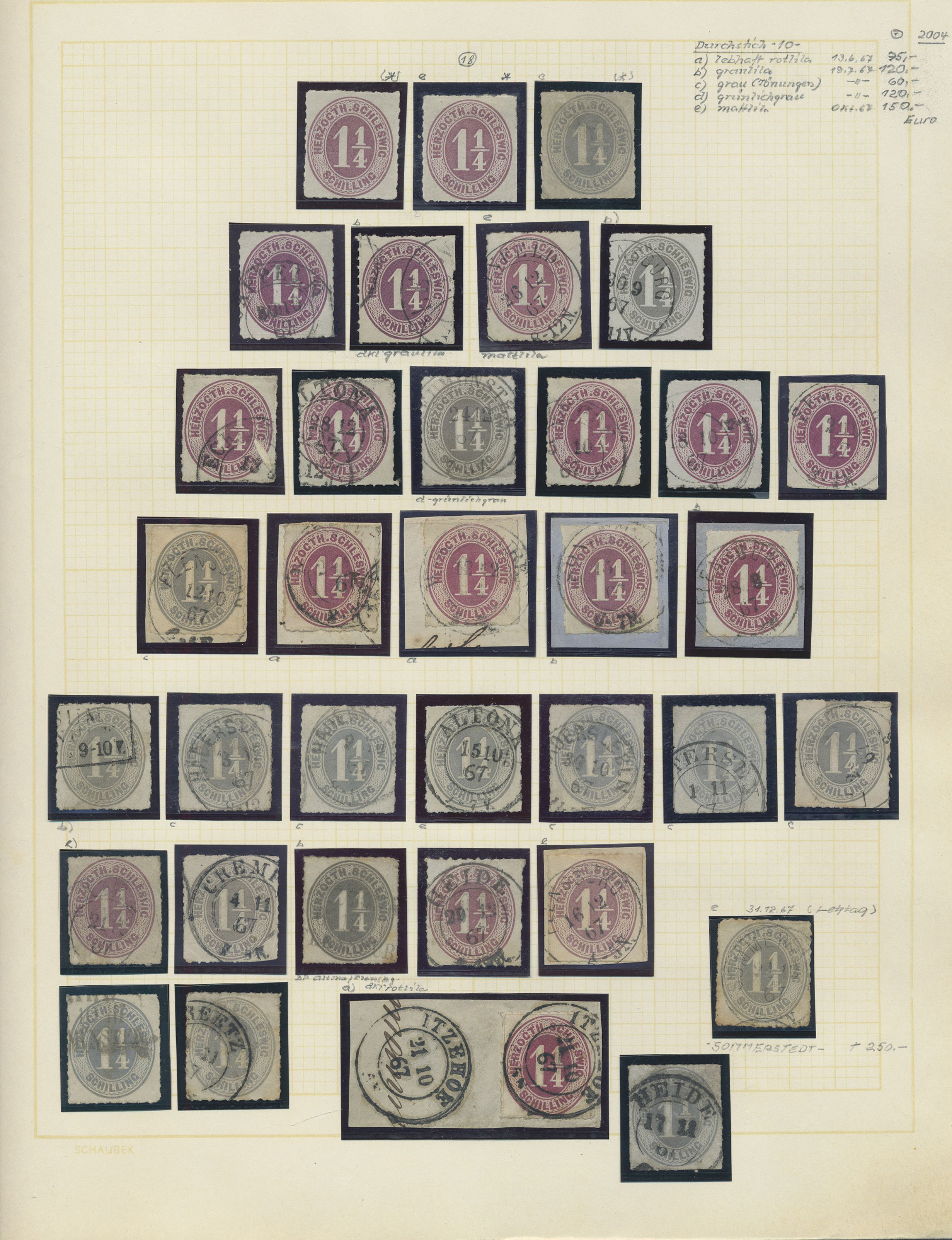 Lot 36473 - Schleswig-Holstein - Marken und Briefe  -  Auktionshaus Christoph Gärtner GmbH & Co. KG Collections Germany,  Collections Supplement, Surprise boxes #39 Day 7
