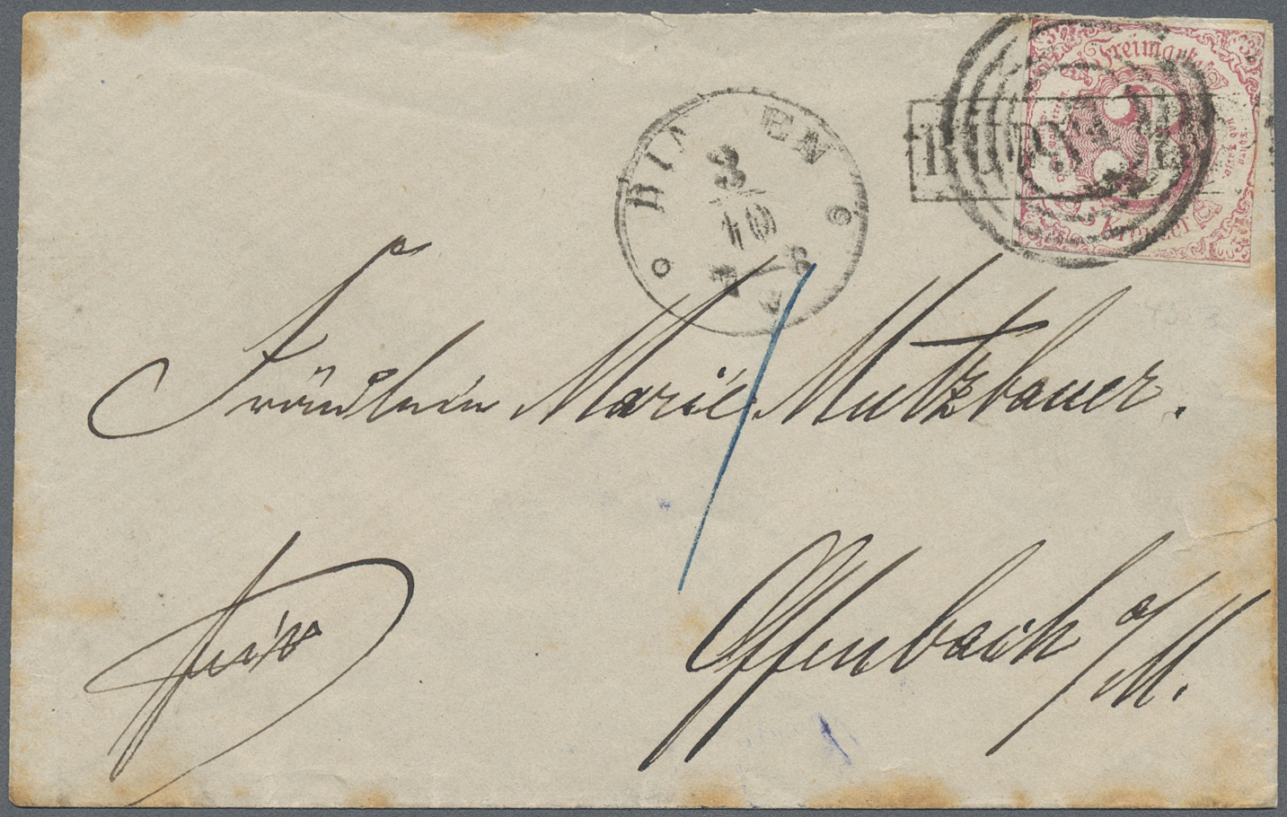 Lot 16448 - Thurn & Taxis - Landpoststempel  -  Auktionshaus Christoph Gärtner GmbH & Co. KG Sale #45- GERMANY