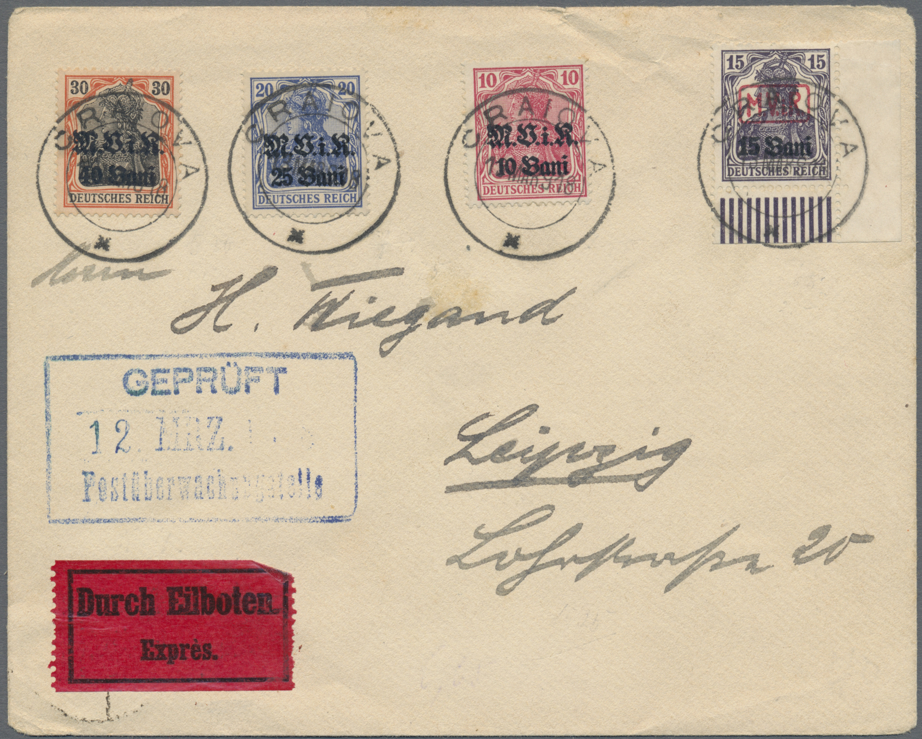 Lot 37160 - zensurpost  -  Auktionshaus Christoph Gärtner GmbH & Co. KG Sale #44 Collections Germany