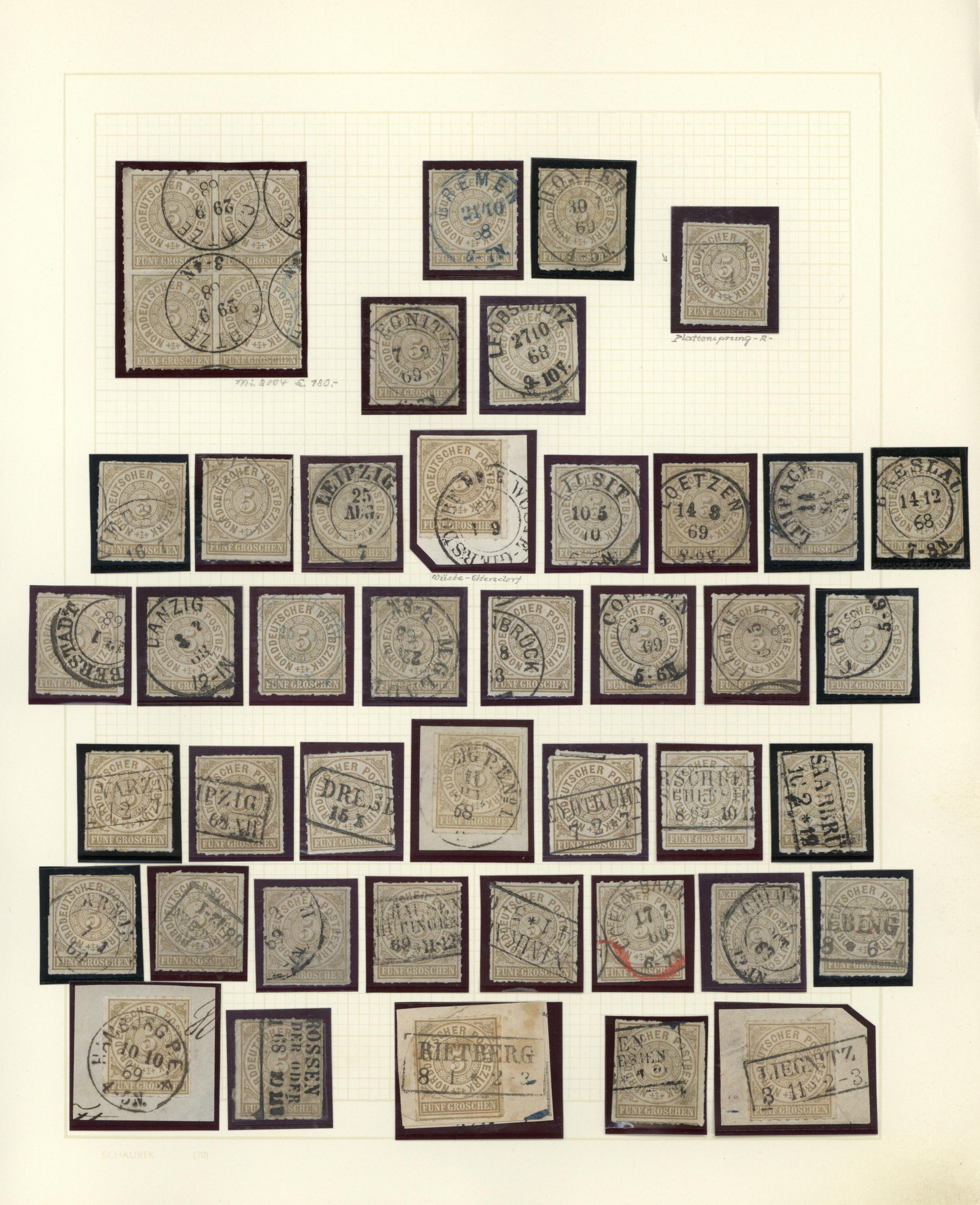 Lot 36595 - Norddeutscher Bund - Marken und Briefe  -  Auktionshaus Christoph Gärtner GmbH & Co. KG Collections Germany,  Collections Supplement, Surprise boxes #39 Day 7