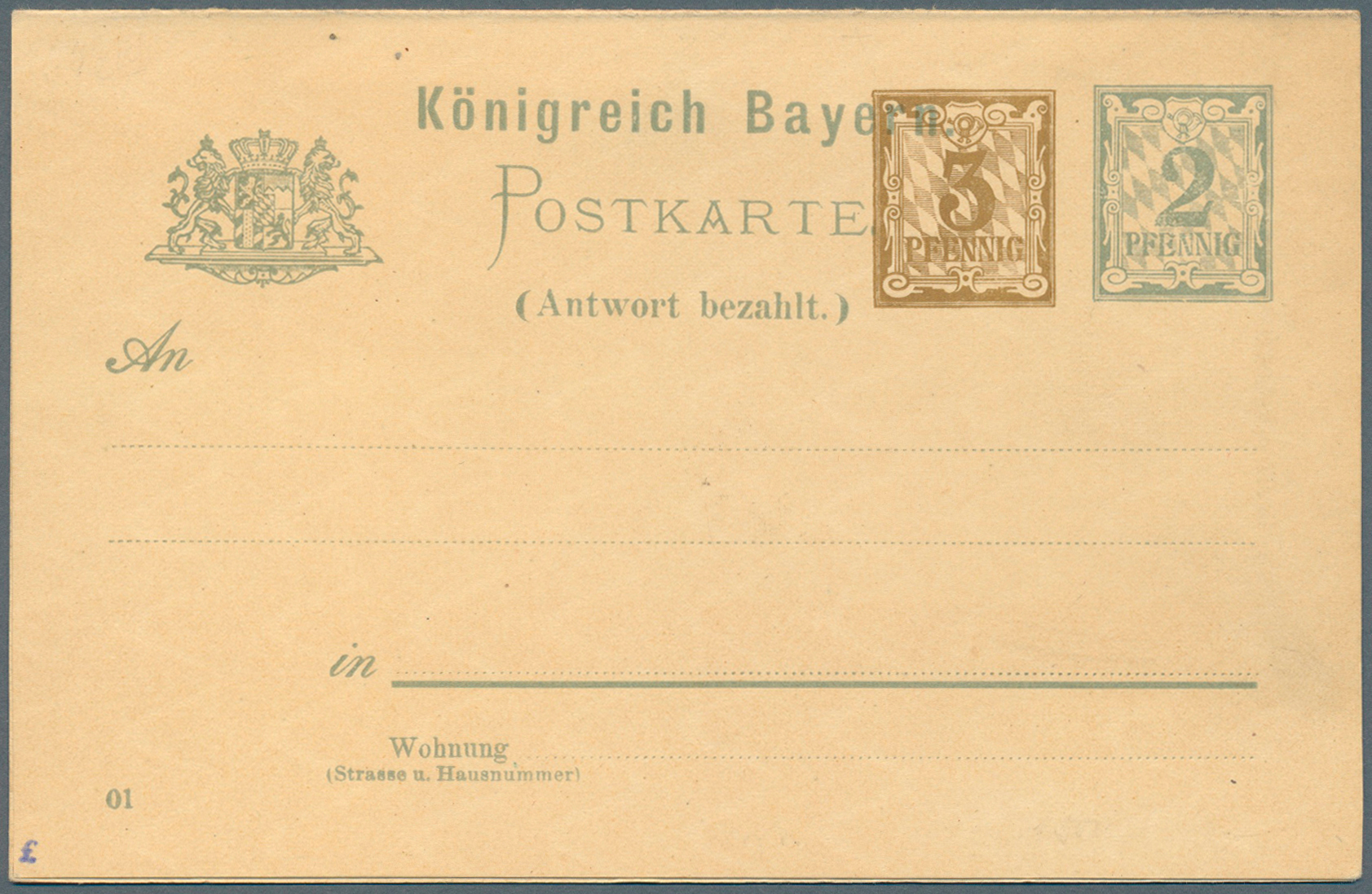Lot 36323 - bayern - ganzsachen  -  Auktionshaus Christoph Gärtner GmbH & Co. KG Collections Germany,  Collections Supplement, Surprise boxes #39 Day 7