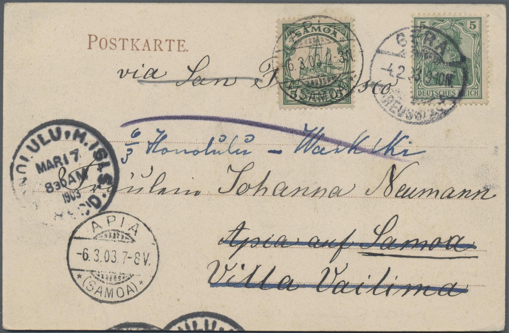 Lot 36953 - Deutsche Kolonien - Samoa  -  Auktionshaus Christoph Gärtner GmbH & Co. KG Sale #44 Collections Germany