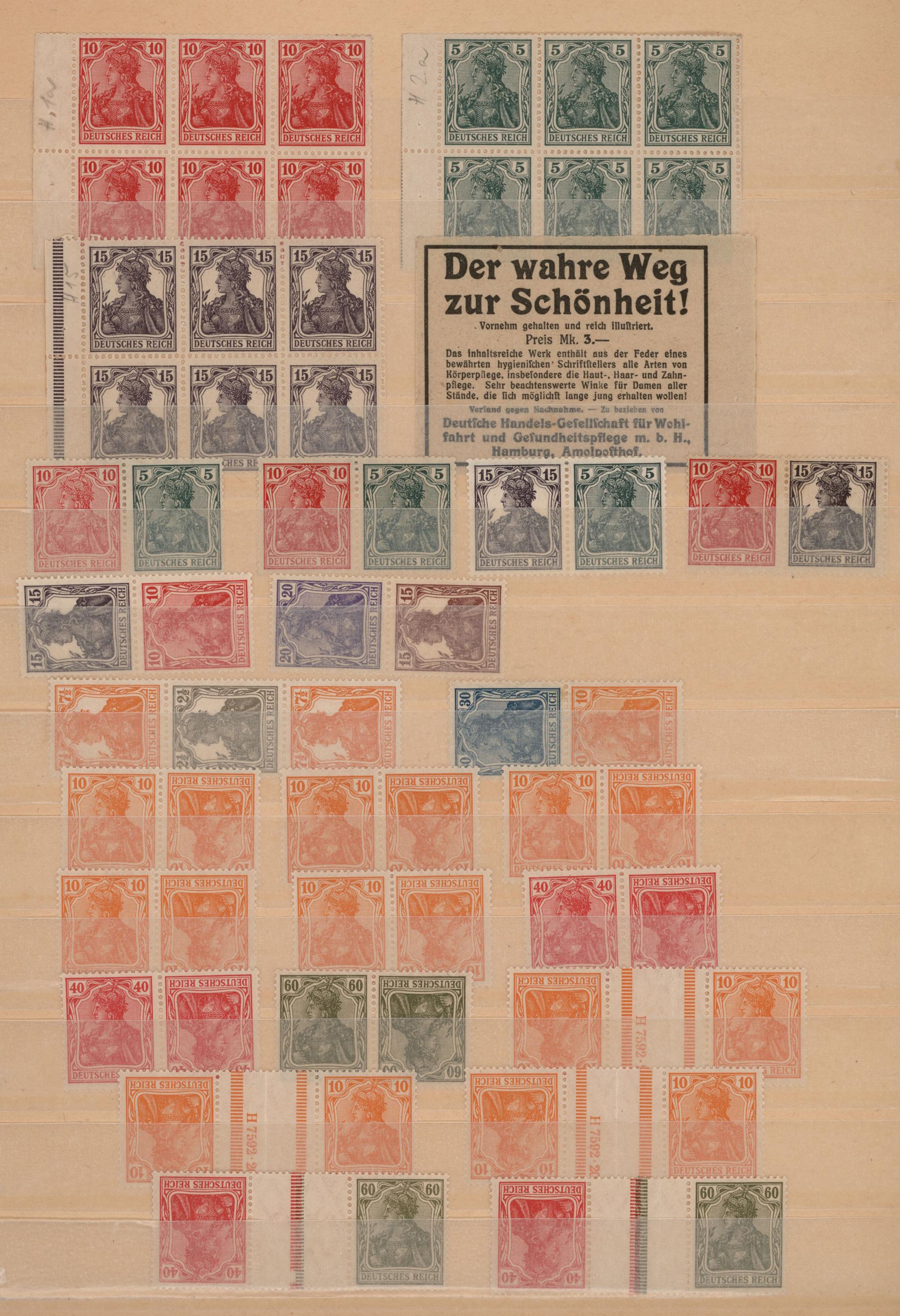 Lot 23404 - Deutsches Reich - Zusammendrucke  -  Auktionshaus Christoph Gärtner GmbH & Co. KG 50th Auction Anniversary Auction - Day 7