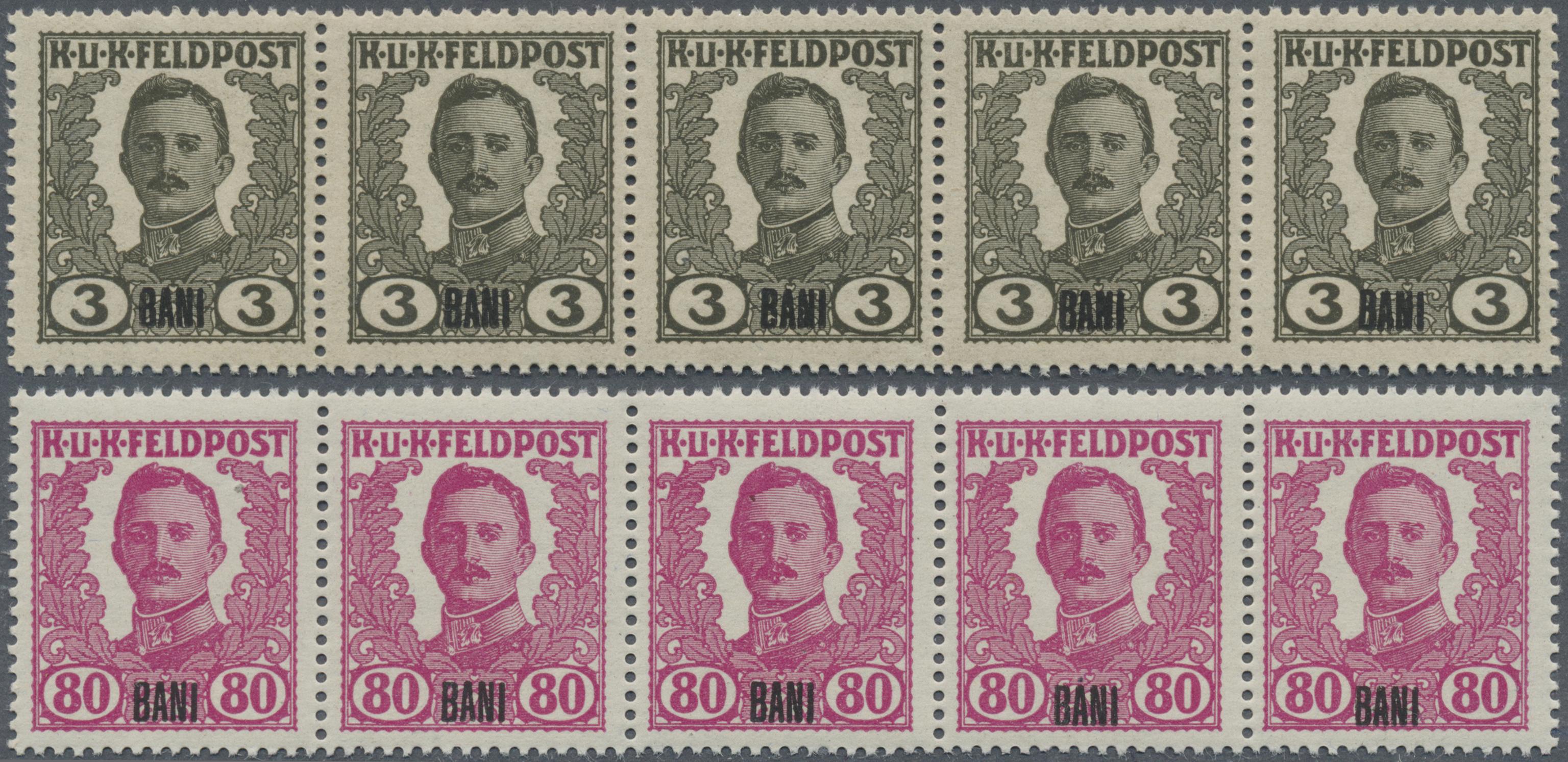 Lot 18357 - Österreichisch-Ungarische Feldpost - Rumänien  -  Auktionshaus Christoph Gärtner GmbH & Co. KG Sale #48 collections Overseas  Airmail / Ship mail & Thematics
