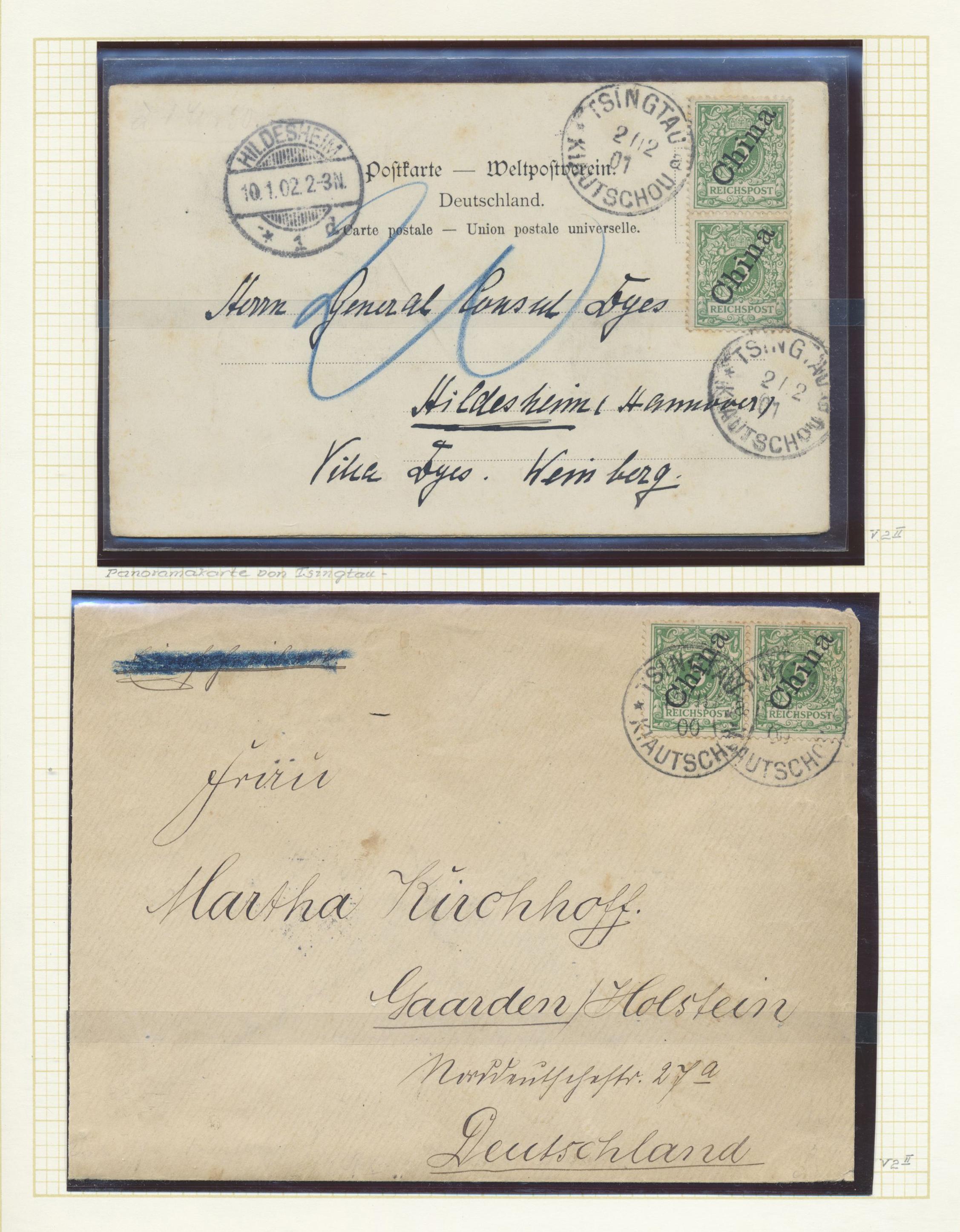 Lot 37293 - Deutsche Kolonien - Kiautschou  -  Auktionshaus Christoph Gärtner GmbH & Co. KG Collections Germany,  Collections Supplement, Surprise boxes #39 Day 7