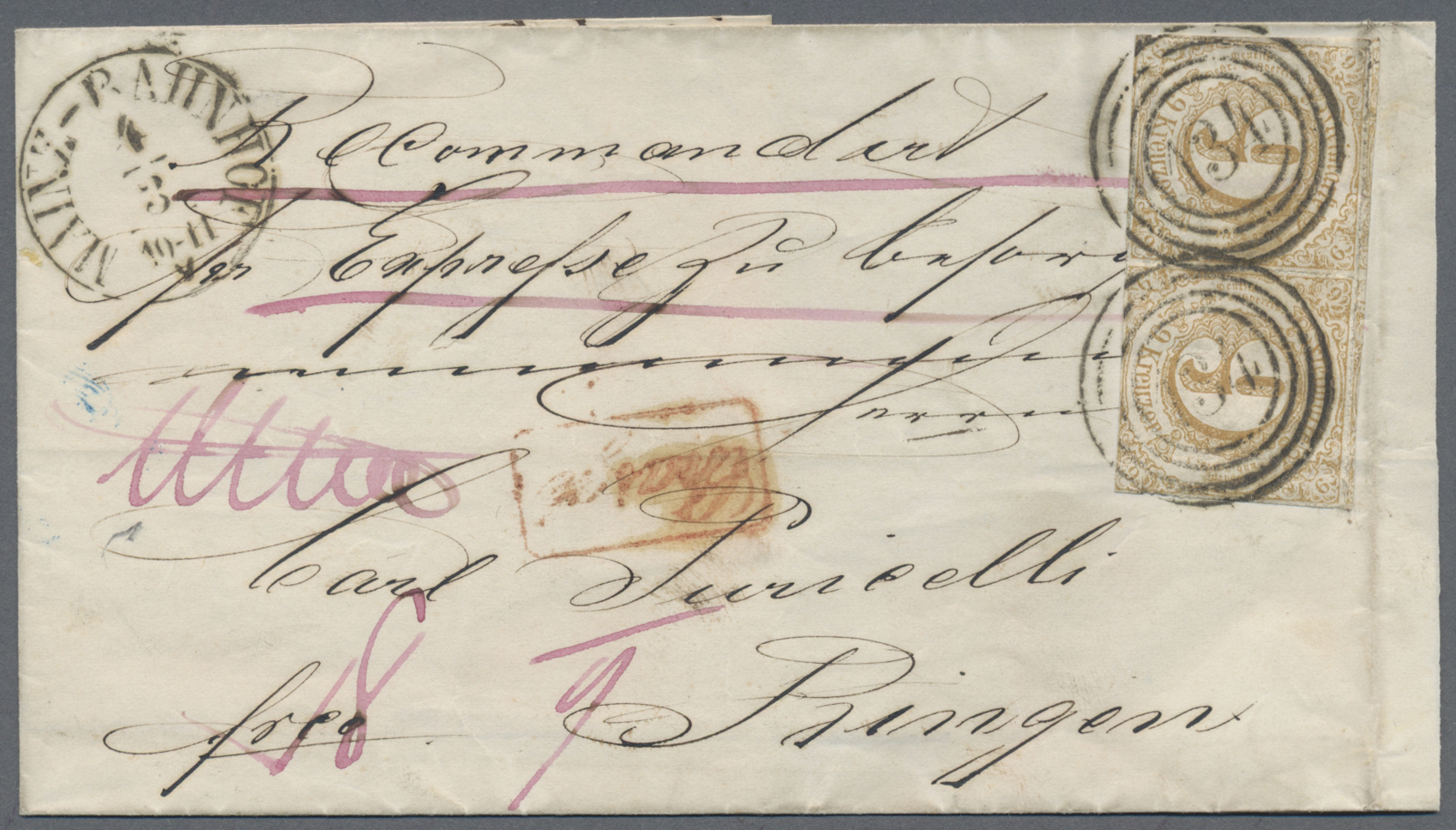 Lot 13815 - Thurn & Taxis - Marken und Briefe  -  Auktionshaus Christoph Gärtner GmbH & Co. KG Sale #46 Single lots Germany - and picture post cards