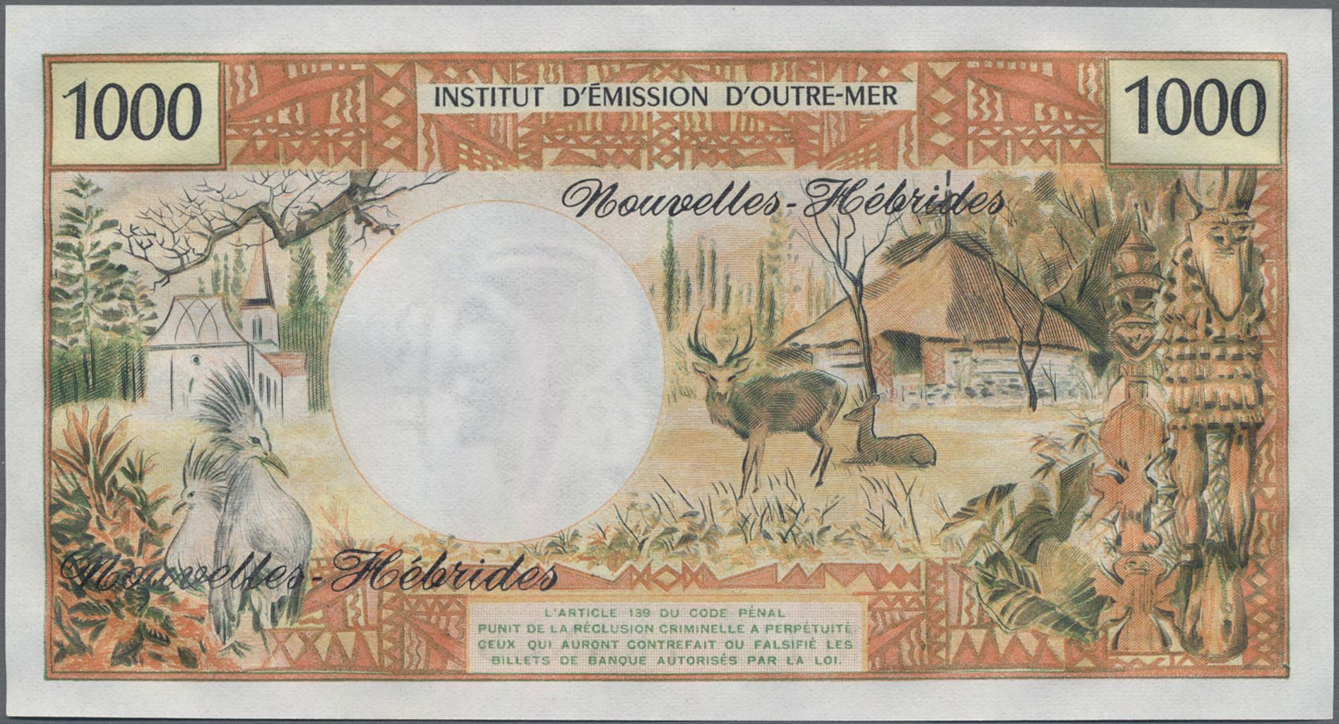 Lot 01070 - New Hebrides / Neue Hebriden | Banknoten  -  Auktionshaus Christoph Gärtner GmbH & Co. KG Sale #48 The Banknotes