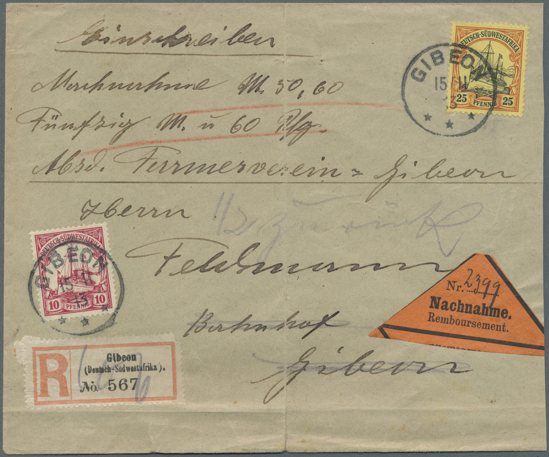 Lot 22335 - deutsch-südwestafrika  -  Auktionshaus Christoph Gärtner GmbH & Co. KG Single lots Germany + Picture Postcards. Auction #39 Day 5