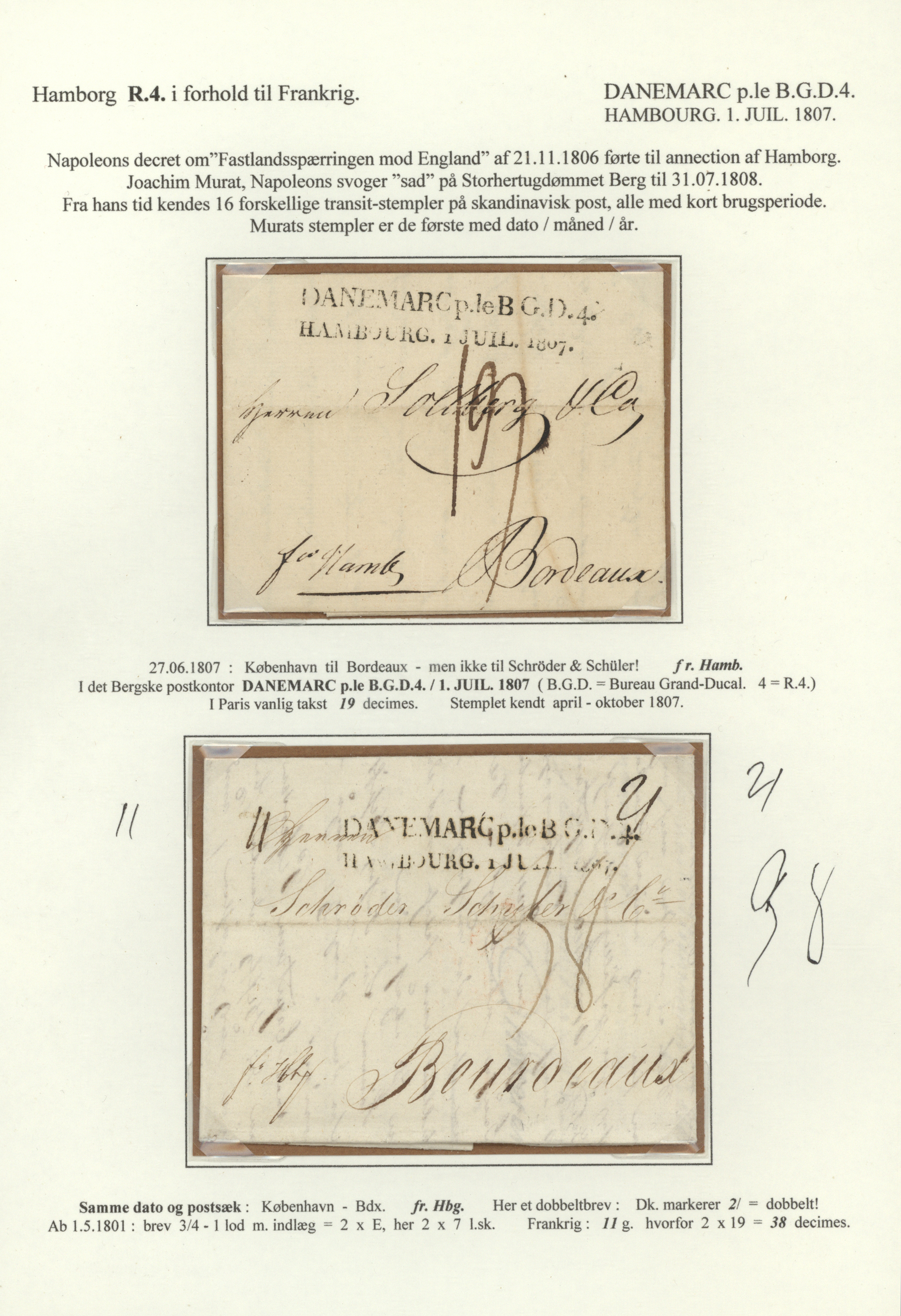 Lot 1116 - Dänemark - Vorphilatelie  -  Auktionshaus Christoph Gärtner GmbH & Co. KG Auction #41 Special auction part two