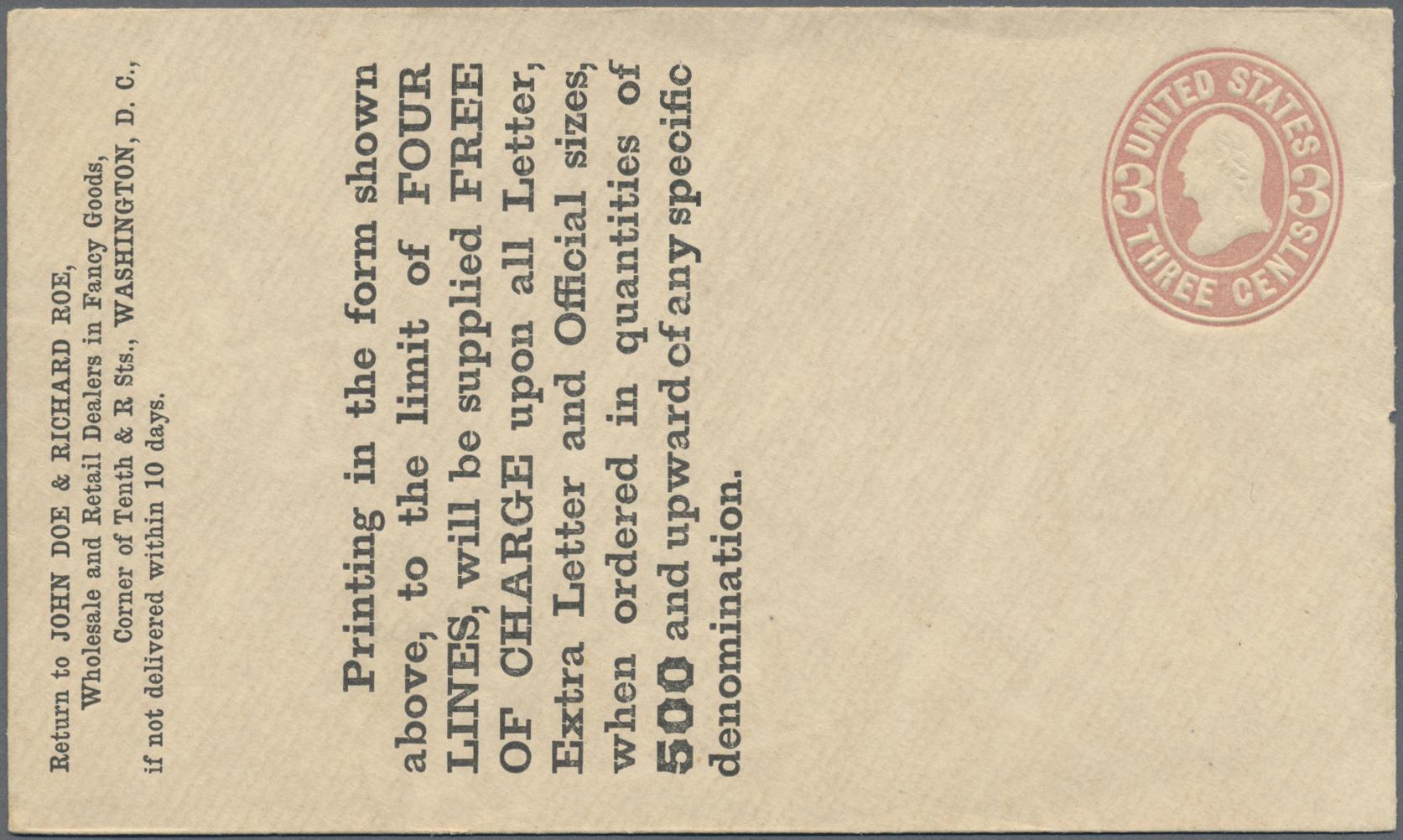 Lot 14770 - Vereinigte Staaten von Amerika - Ganzsachen  -  Auktionshaus Christoph Gärtner GmbH & Co. KG Sale #48 collections Overseas  Airmail / Ship mail & Thematics