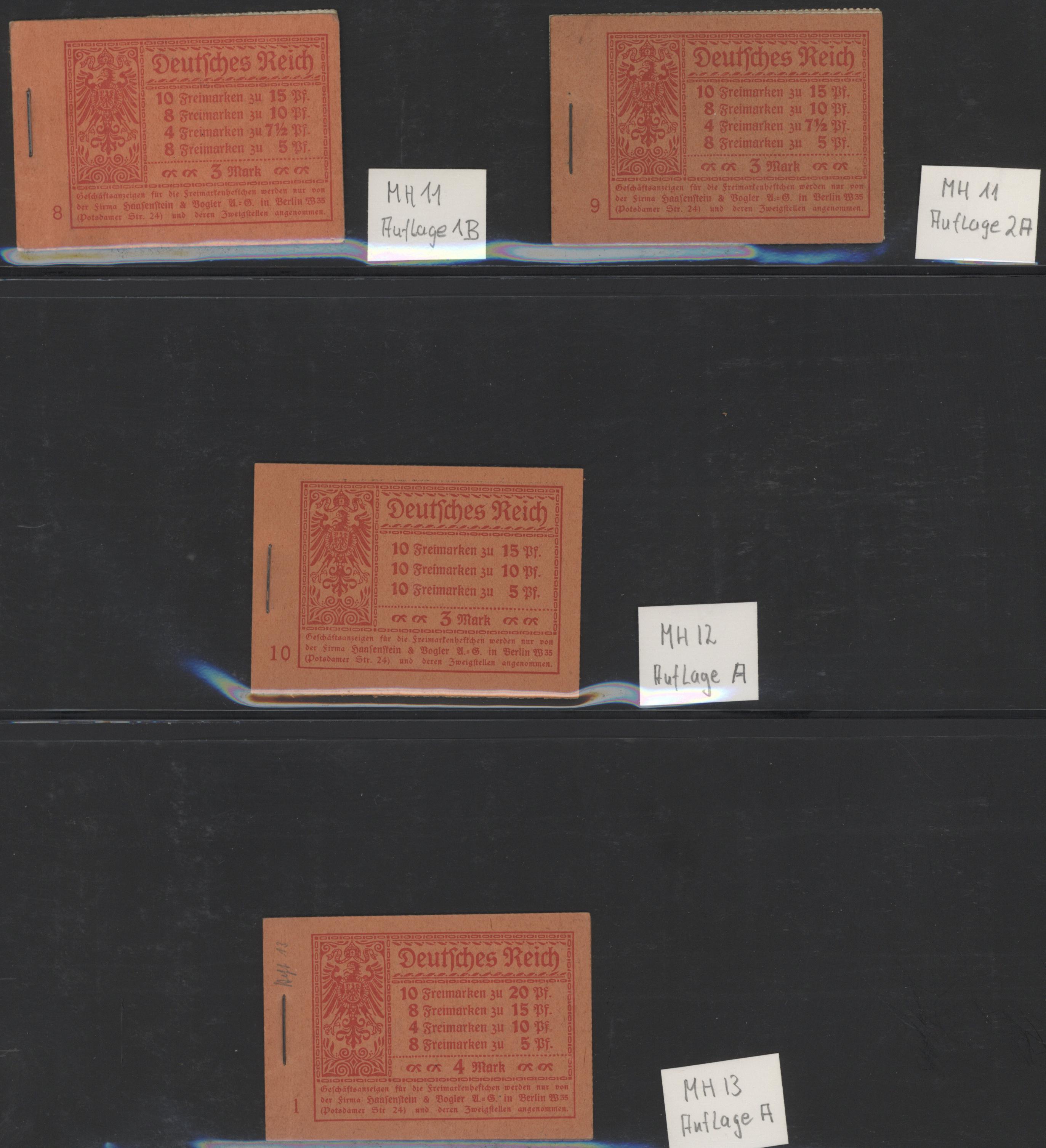 Lot 31676 - Deutsches Reich - Markenheftchen  -  Auktionshaus Christoph Gärtner GmbH & Co. KG Auction #40 Collections Germany, Wunderkartons
