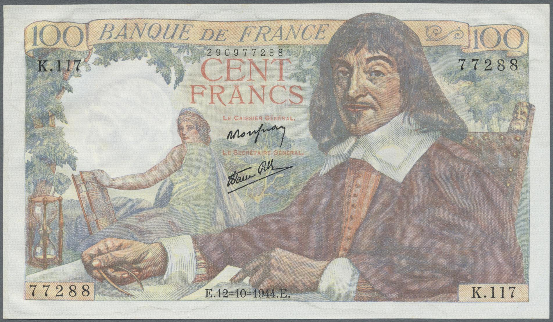 Lot 254 - France / Frankreich   Banknoten  -  Auktionshaus Christoph Gärtner GmbH & Co. KG Sale #49 Coins and Banknotes