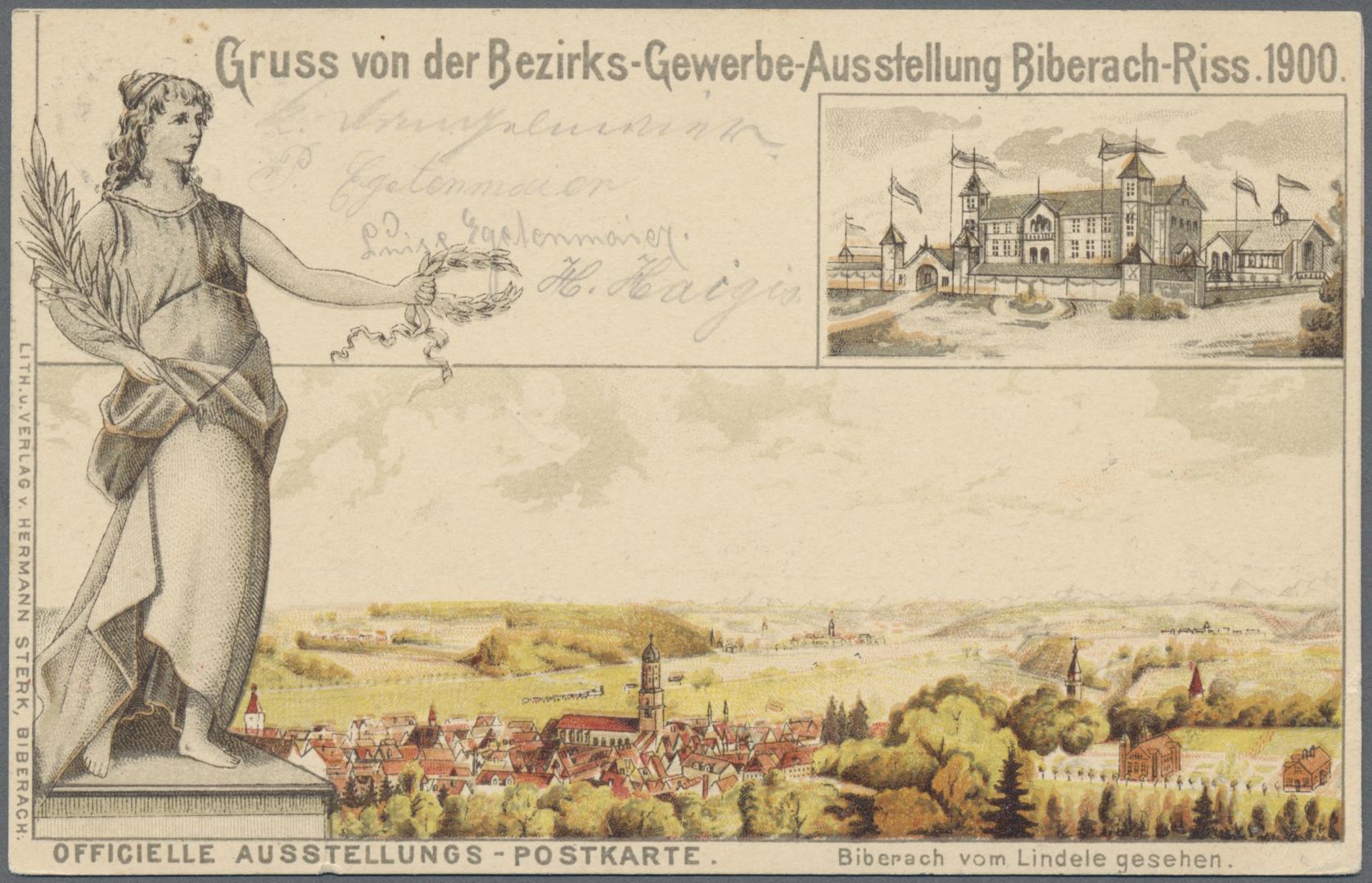 Lot 18416 - Ansichtskarten: Baden-Württemberg  -  Auktionshaus Christoph Gärtner GmbH & Co. KG Sale #46 Single lots Germany - and picture post cards