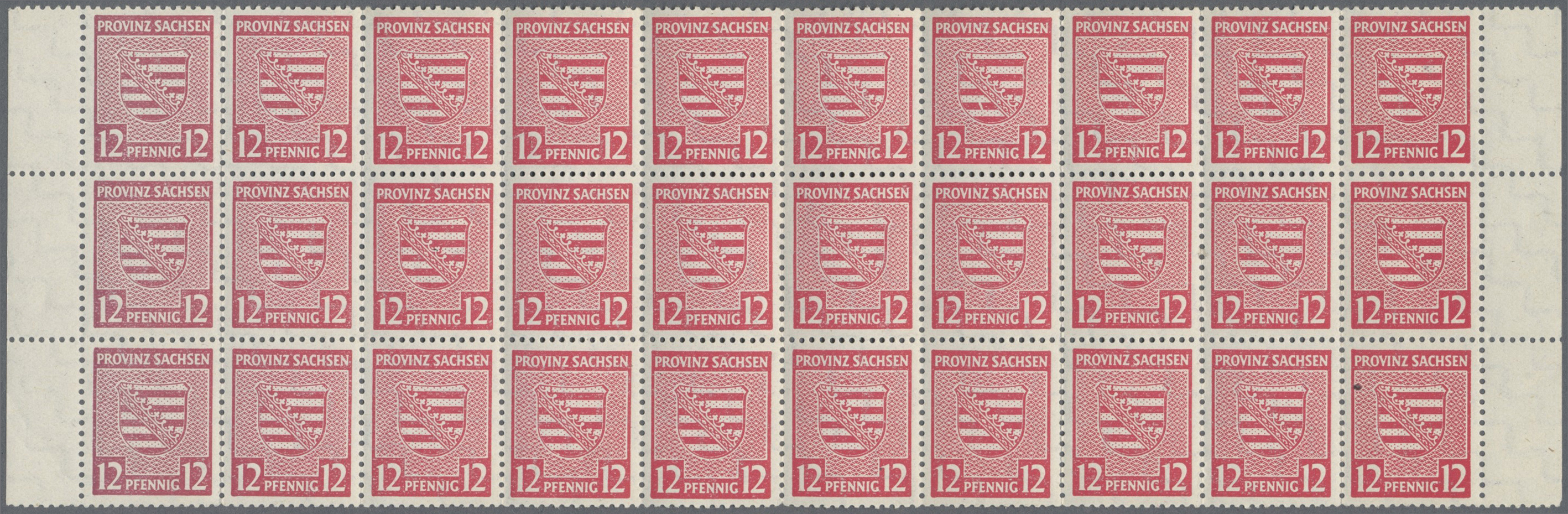 Lot 24138 - Sowjetische Zone - Provinz Sachsen  -  Auktionshaus Christoph Gärtner GmbH & Co. KG Single lots Germany + Picture Postcards. Auction #39 Day 5