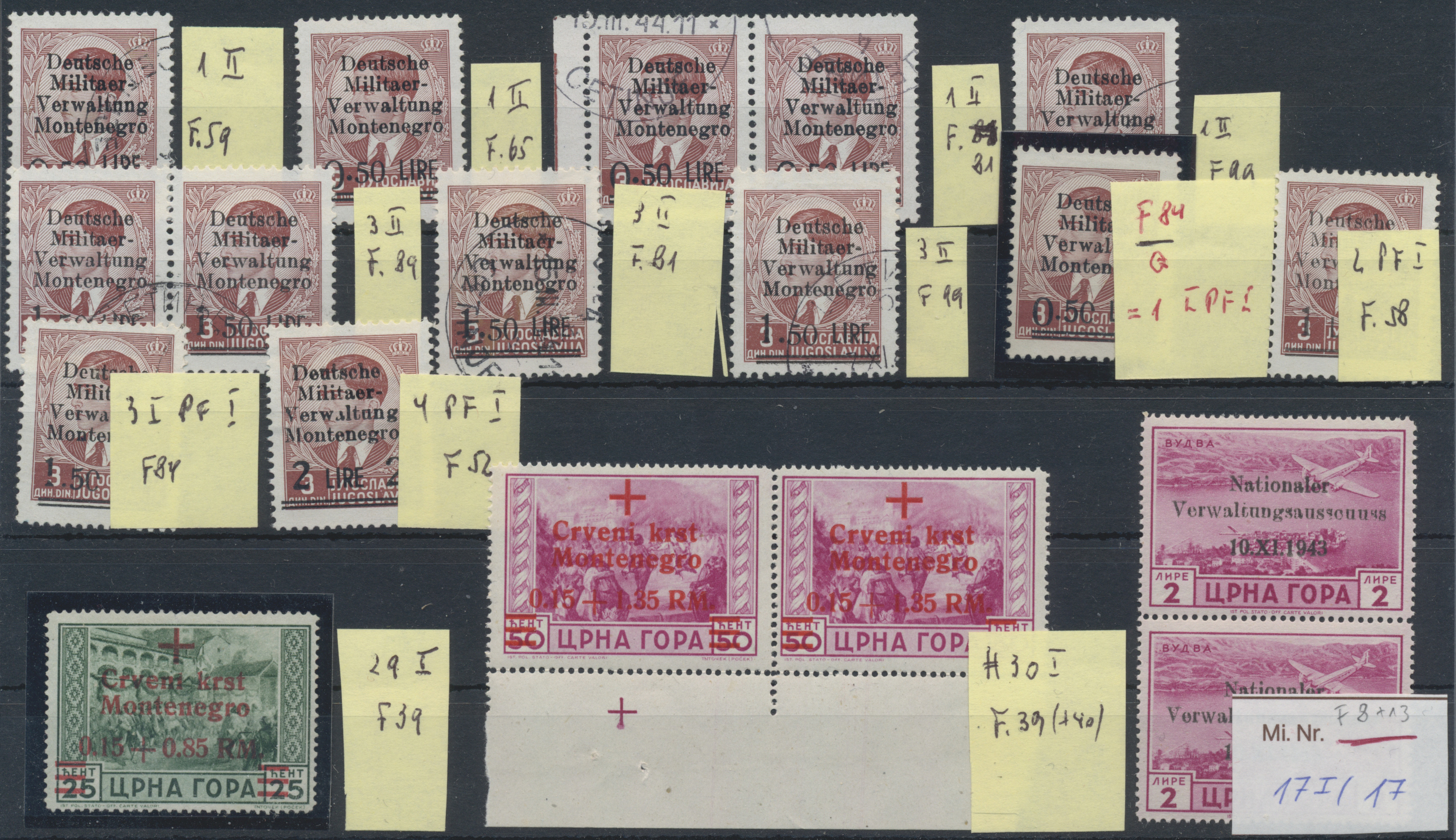 Lot 37129 - Dt. Besetzung II WK - Montenegro  -  Auktionshaus Christoph Gärtner GmbH & Co. KG Sale #44 Collections Germany