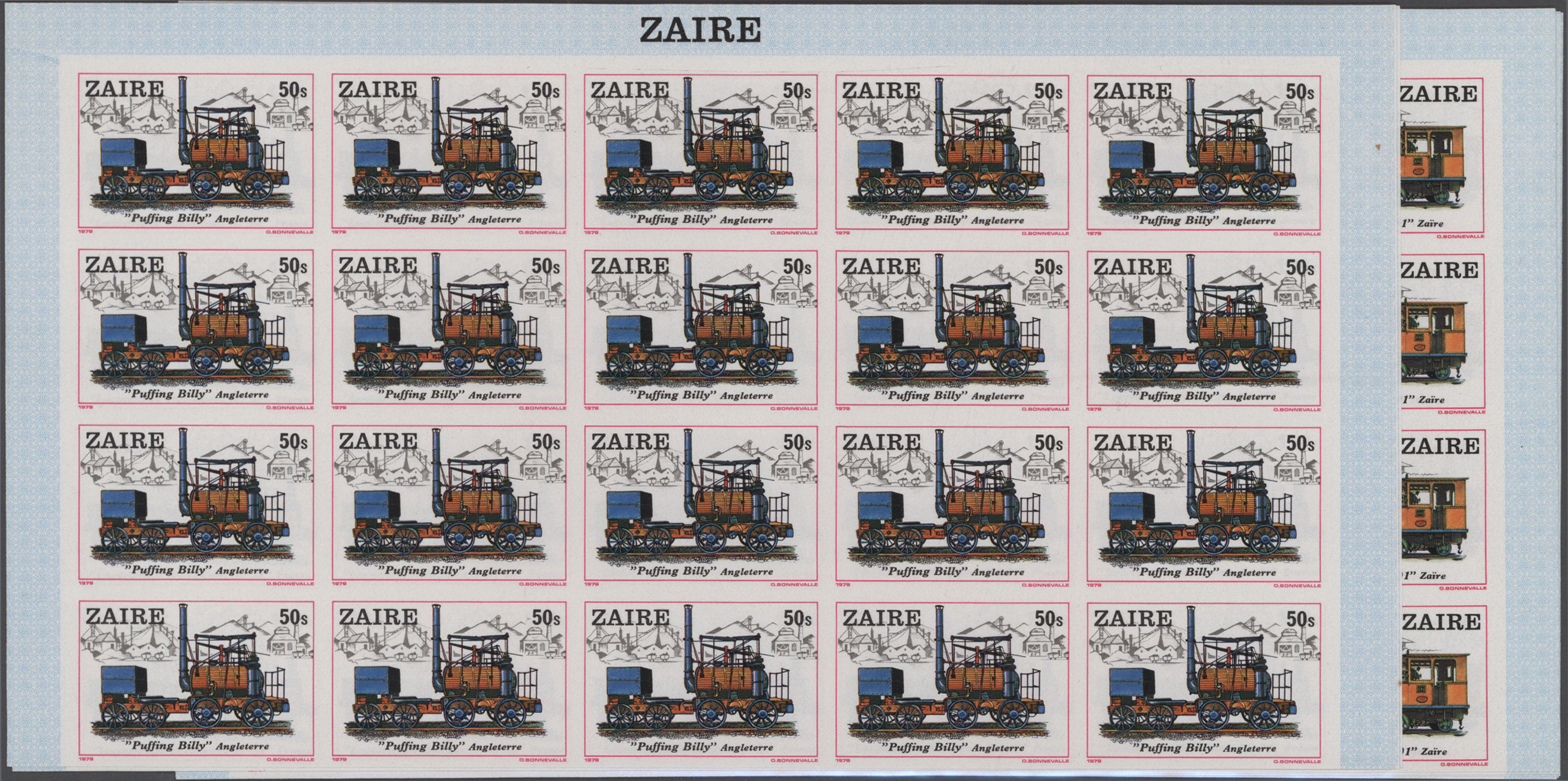 Lot 15384 - thematik: eisenbahn / railway  -  Auktionshaus Christoph Gärtner GmbH & Co. KG Sale #48 collections Overseas  Airmail / Ship mail & Thematics