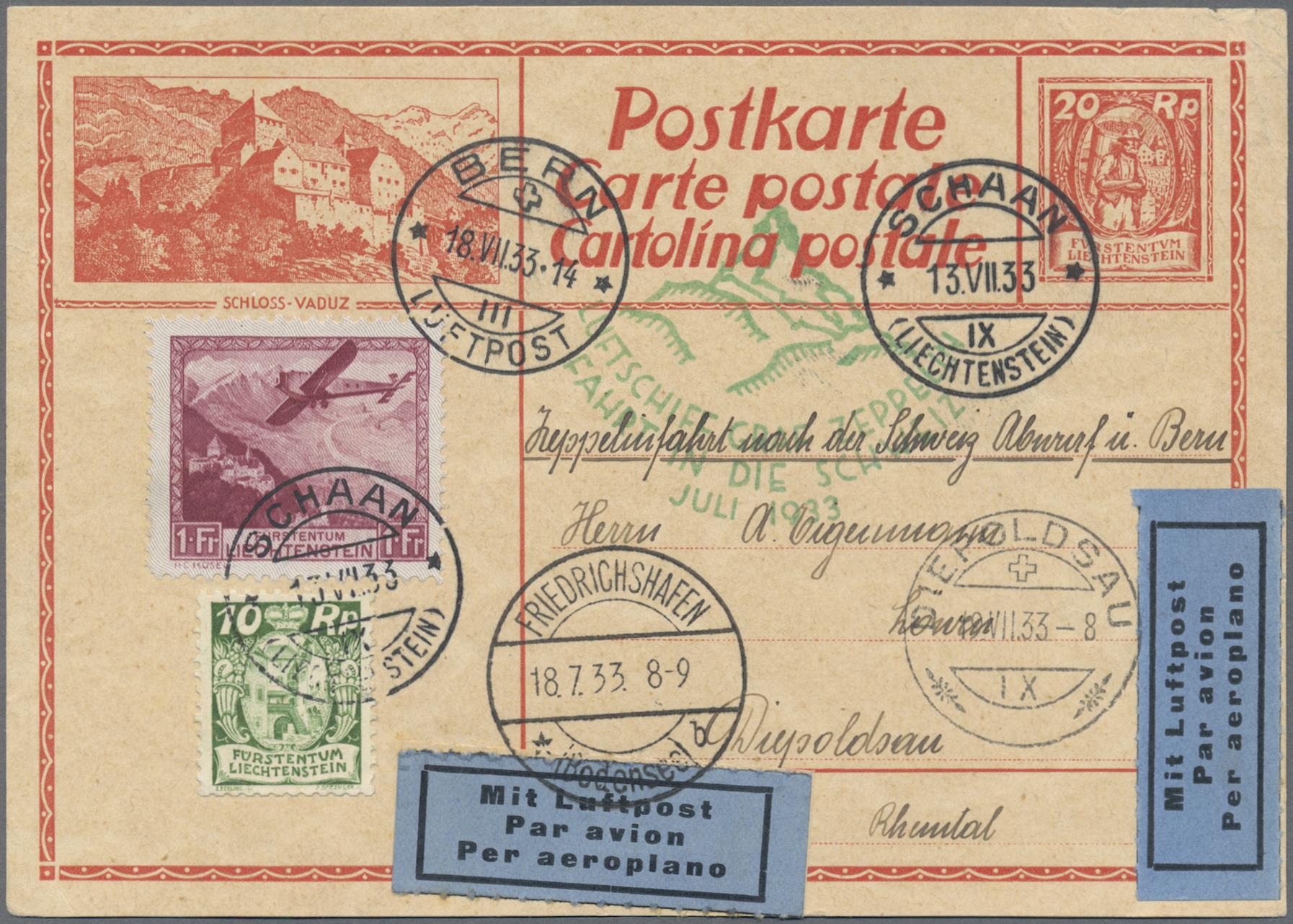 Lot 18718 - Liechtenstein  -  Auktionshaus Christoph Gärtner GmbH & Co. KG 50th Auction Anniversary Auction - Day 5
