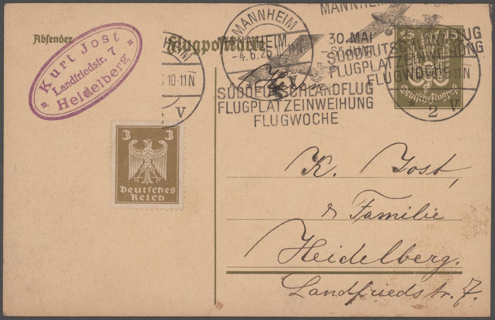 Lot 23317 - Deutsches Reich - Weimar  -  Auktionshaus Christoph Gärtner GmbH & Co. KG 50th Auction Anniversary Auction - Day 7