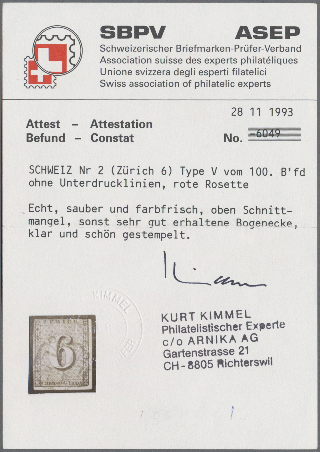 Lot 09843 - Schweiz - Zürich  -  Auktionshaus Christoph Gärtner GmbH & Co. KG Sale #48 The Single Lots Philatelie