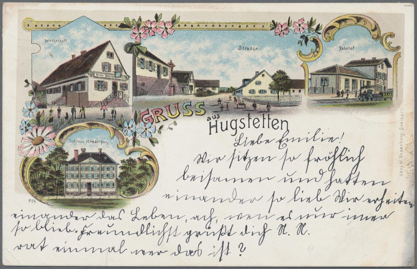 Lot 19528 - Ansichtskarten: Baden-Württemberg  -  Auktionshaus Christoph Gärtner GmbH & Co. KG Sale #46 Single lots Germany - and picture post cards