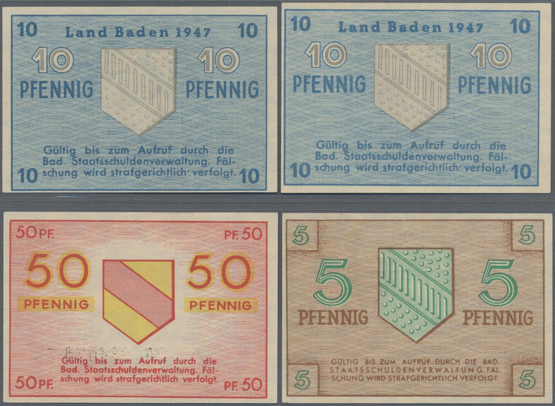 Lot 03382 - Deutschland - Alliierte Miltärbehörde + Ausgaben 1945-1948 | Banknoten  -  Auktionshaus Christoph Gärtner GmbH & Co. KG Sale #45 Banknotes Germany/Numismatics