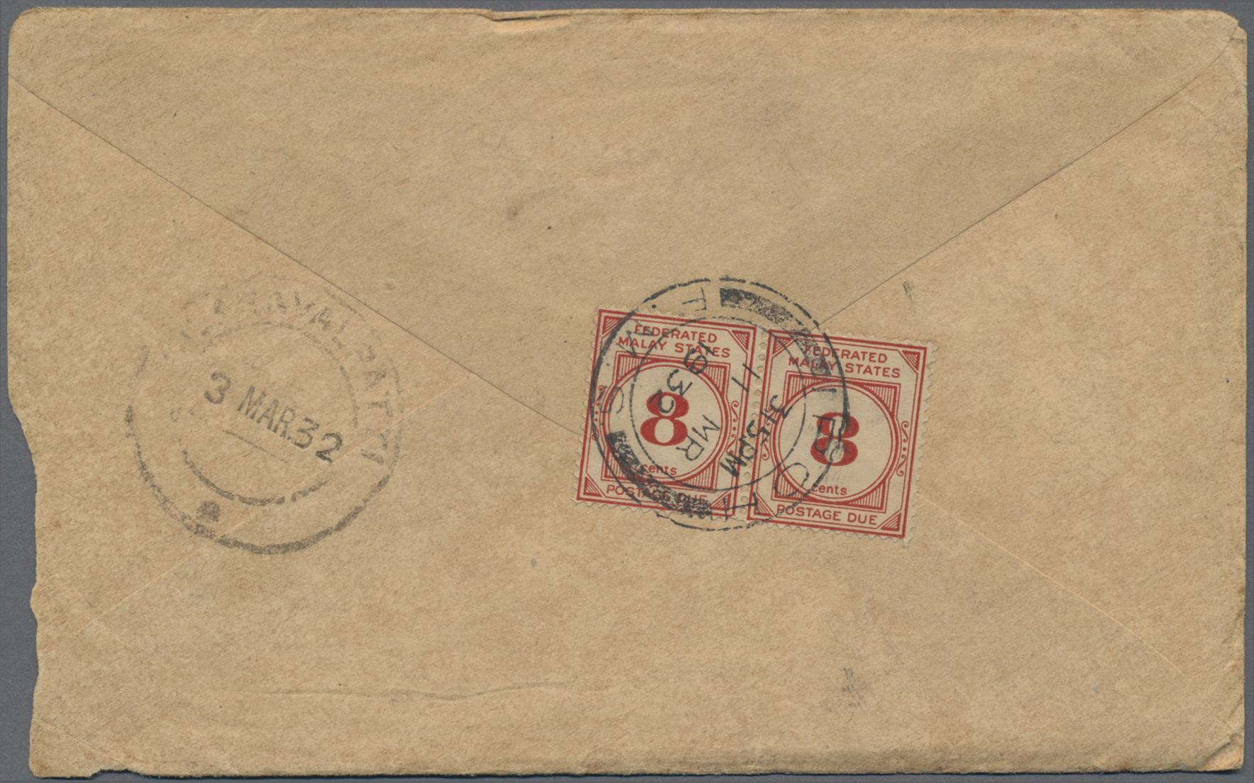 Lot 03110 - Malaiischer Staatenbund - Portomarken  -  Auktionshaus Christoph Gärtner GmbH & Co. KG Special auction