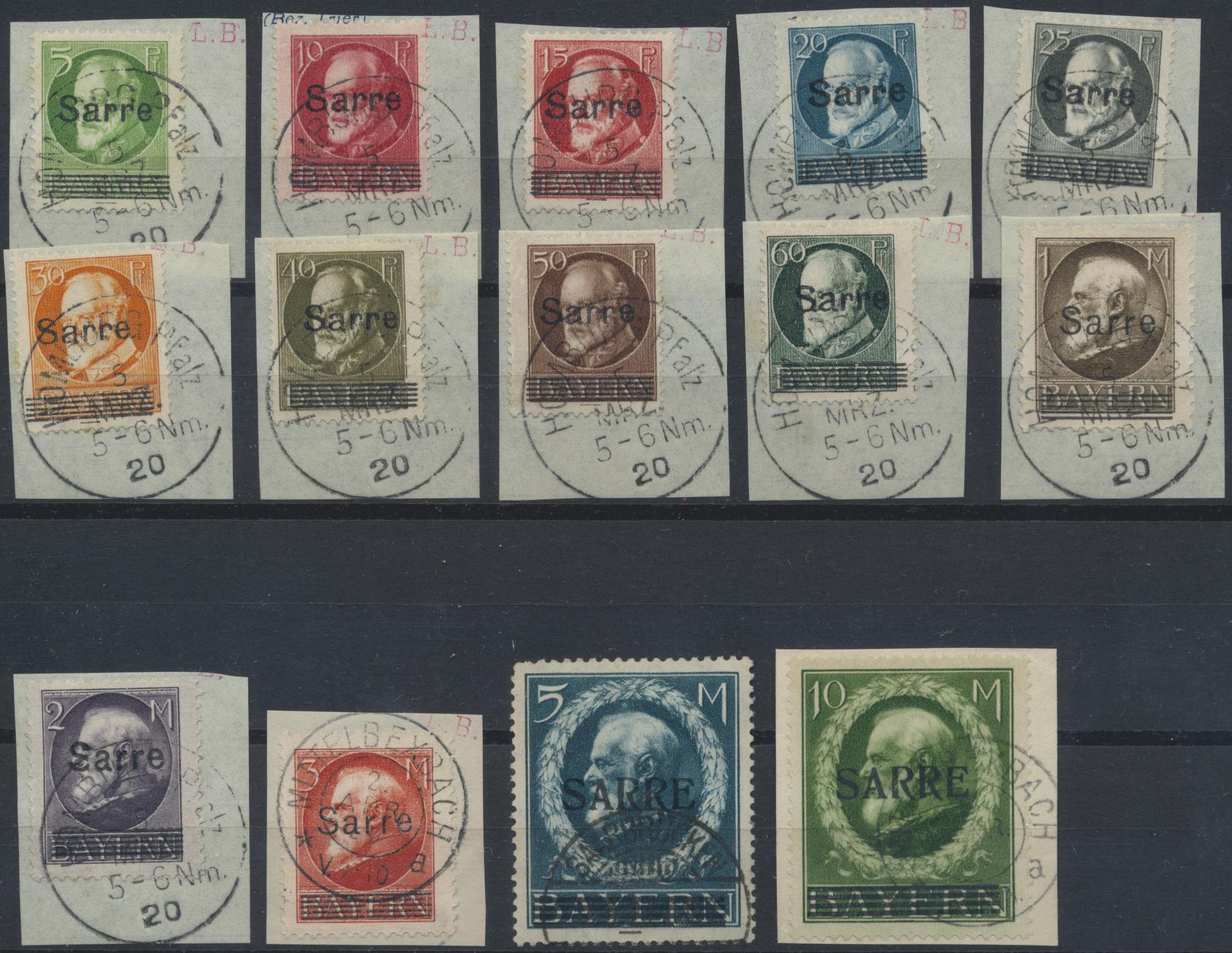 Lot 23662 - Deutsche Abstimmungsgebiete: Saargebiet  -  Auktionshaus Christoph Gärtner GmbH & Co. KG 50th Auction Anniversary Auction - Day 7
