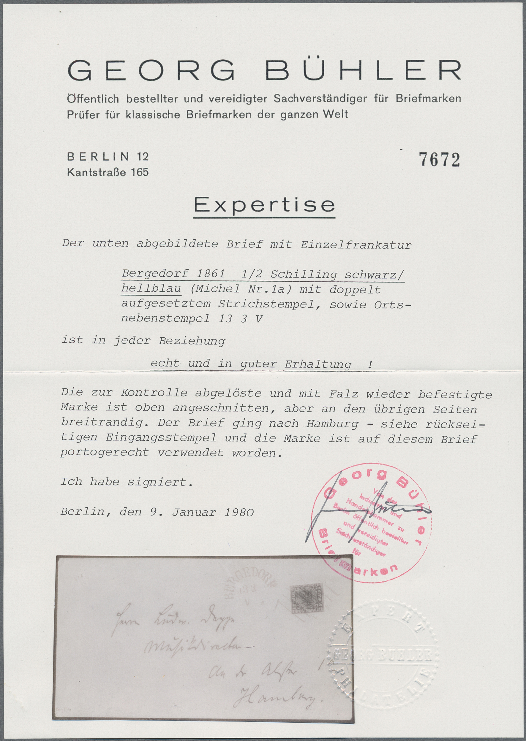 Lot 20258 - Bergedorf - Marken und Briefe  -  Auktionshaus Christoph Gärtner GmbH & Co. KG Sale #44 Germany, Picture Post cards