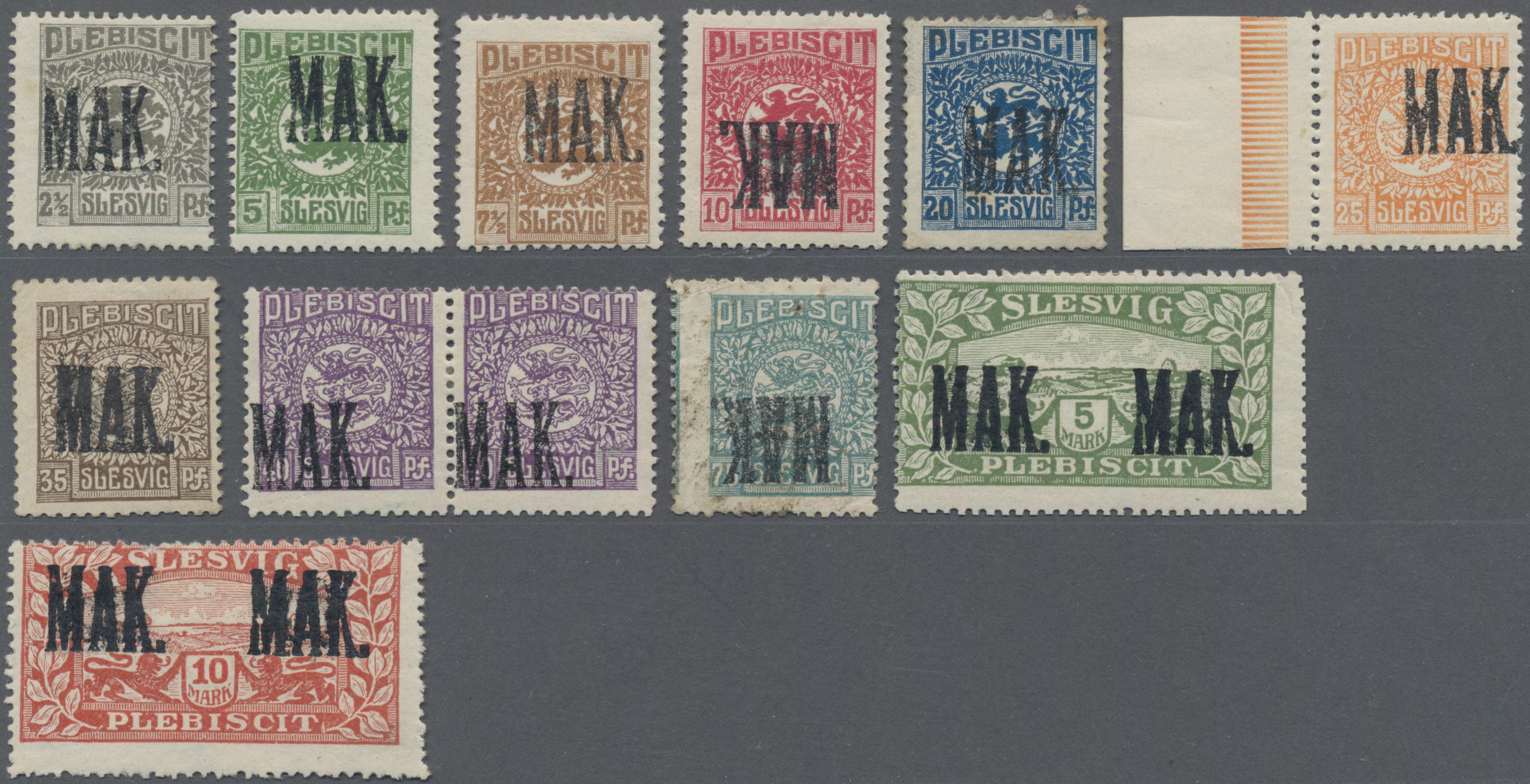 Lot 11586 - Deutsche Abstimmungsgebiete: Schleswig  -  Auktionshaus Christoph Gärtner GmbH & Co. KG Sale #48 The Single Lots Philatelie