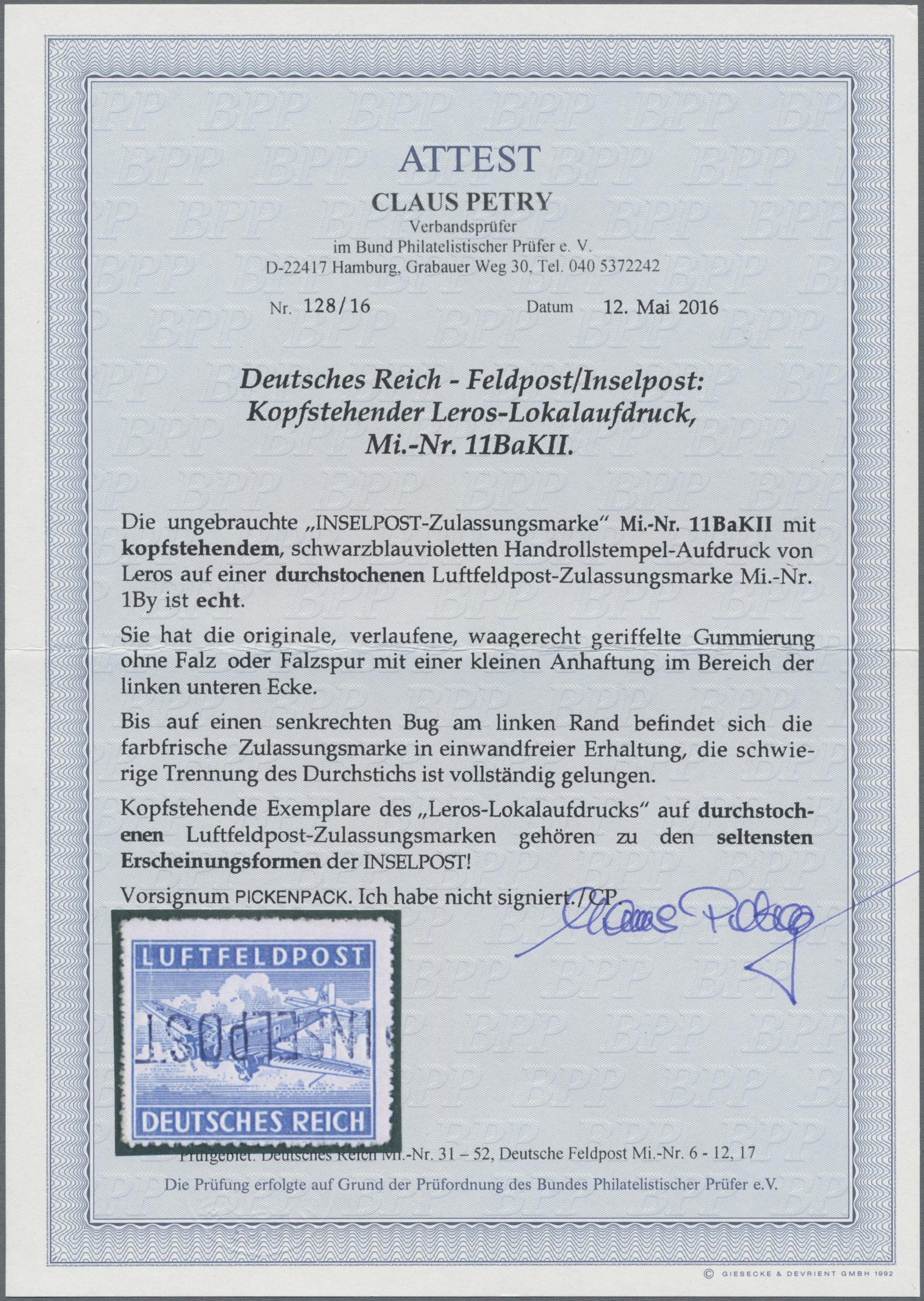 Lot 23929A - feldpost 2. weltkrieg  -  Auktionshaus Christoph Gärtner GmbH & Co. KG Sale #44 Germany, Picture Post cards