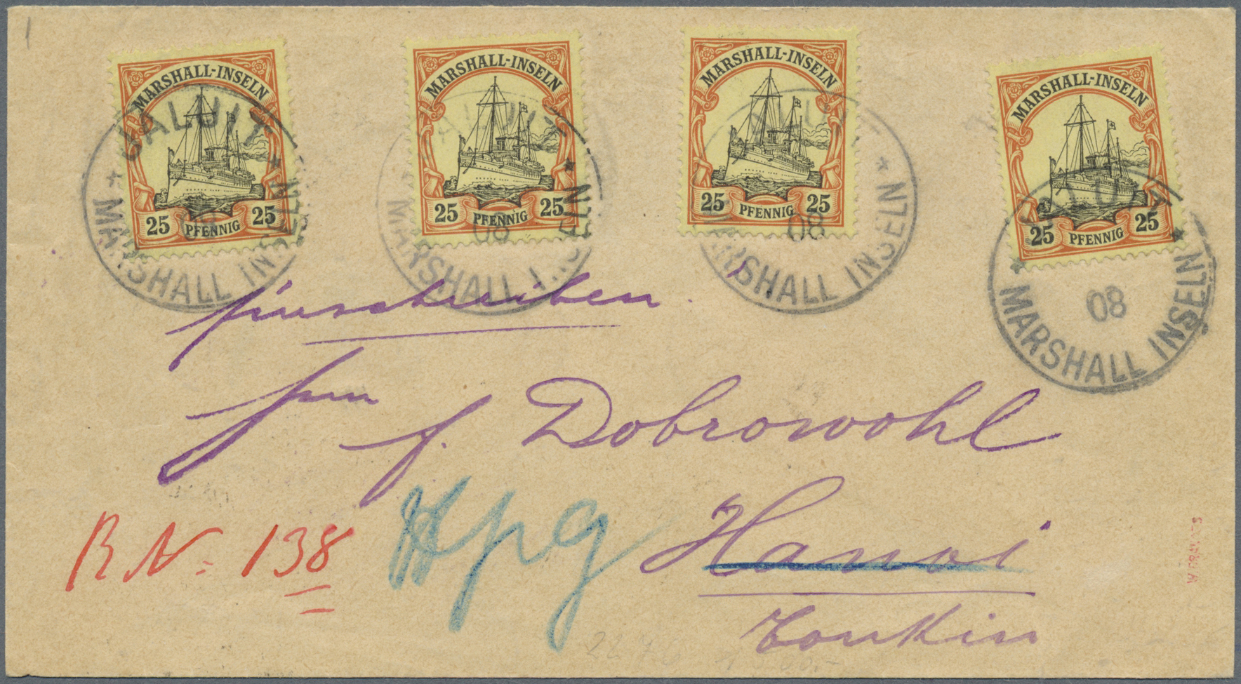 Lot 18779 - Deutsche Kolonien - Marshall-Inseln  -  Auktionshaus Christoph Gärtner GmbH & Co. KG Auction #40 Germany, Picture Post Cards, Collections Overseas, Thematics
