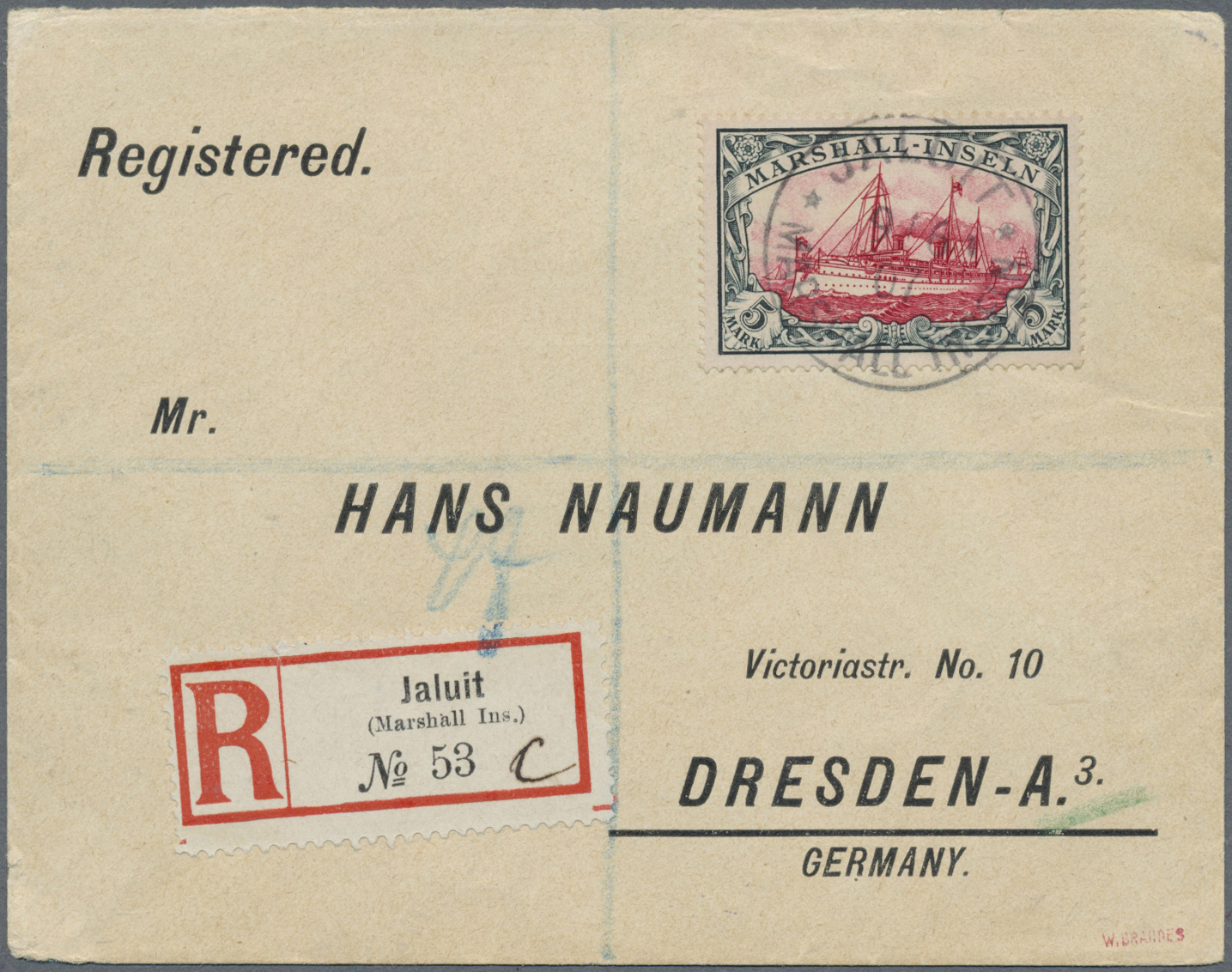 Lot 18782 - Deutsche Kolonien - Marshall-Inseln  -  Auktionshaus Christoph Gärtner GmbH & Co. KG Auction #40 Germany, Picture Post Cards, Collections Overseas, Thematics