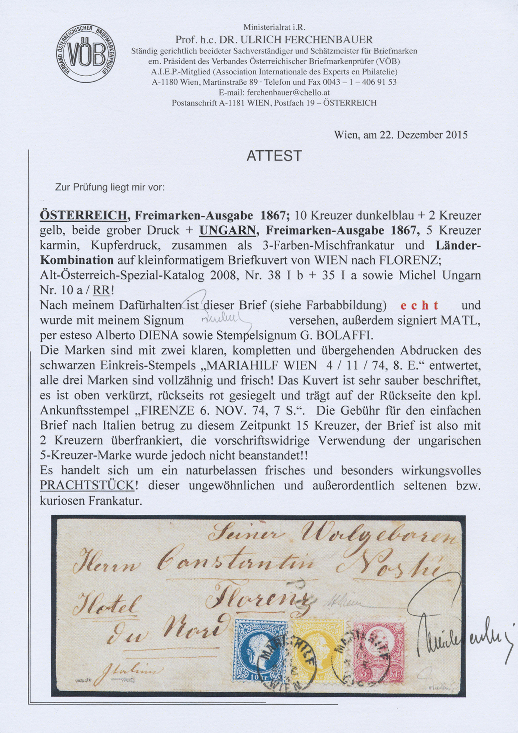 Lot 00015 - österreich  -  Auktionshaus Christoph Gärtner GmbH & Co. KG Intenational Rarities and contains lots from the collection of Peter Zgonc