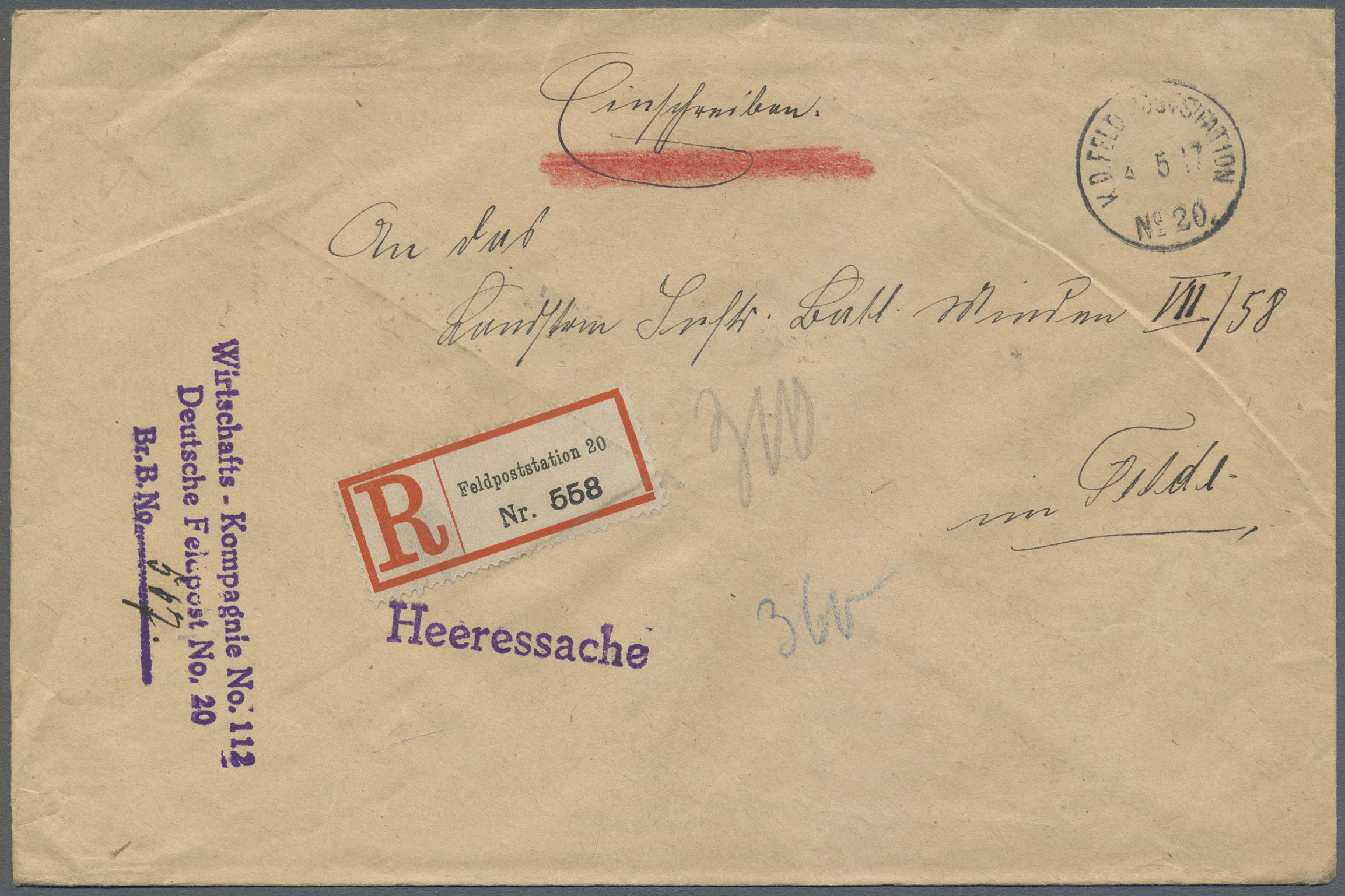 Lot 37419 - feldpost 1. weltkrieg  -  Auktionshaus Christoph Gärtner GmbH & Co. KG Collections Germany,  Collections Supplement, Surprise boxes #39 Day 7