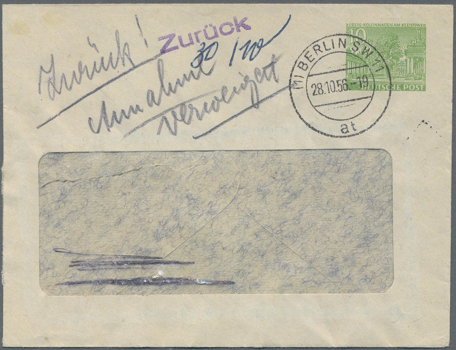 Lot 37485 - berlin - ganzsachen  -  Auktionshaus Christoph Gärtner GmbH & Co. KG Sale #44 Collections Germany