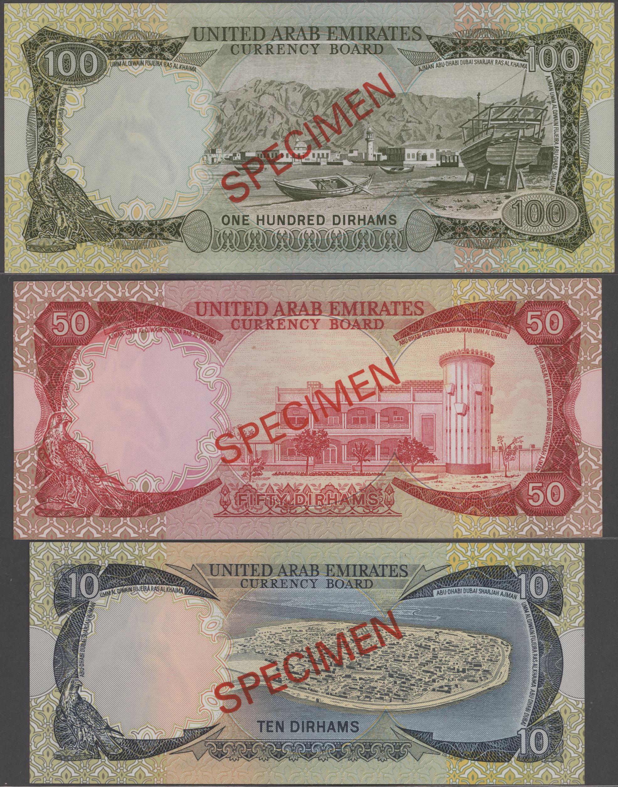 Lot 00900 - United Arab Emirates / Vereinigte Arabische Emirate   Banknoten  -  Auktionshaus Christoph Gärtner GmbH & Co. KG Sale #48 The Banknotes