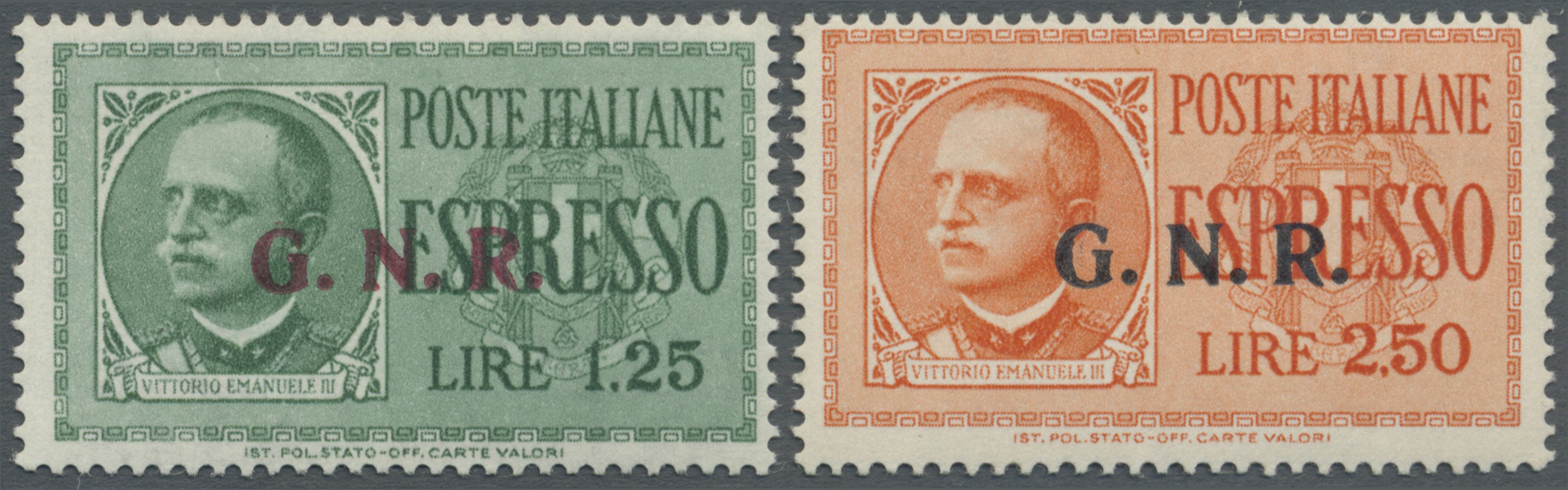 Lot 17094 - Italien - Militärpostmarken: Nationalgarde  -  Auktionshaus Christoph Gärtner GmbH & Co. KG Single lots Philately Overseas & Europe. Auction #39 Day 4