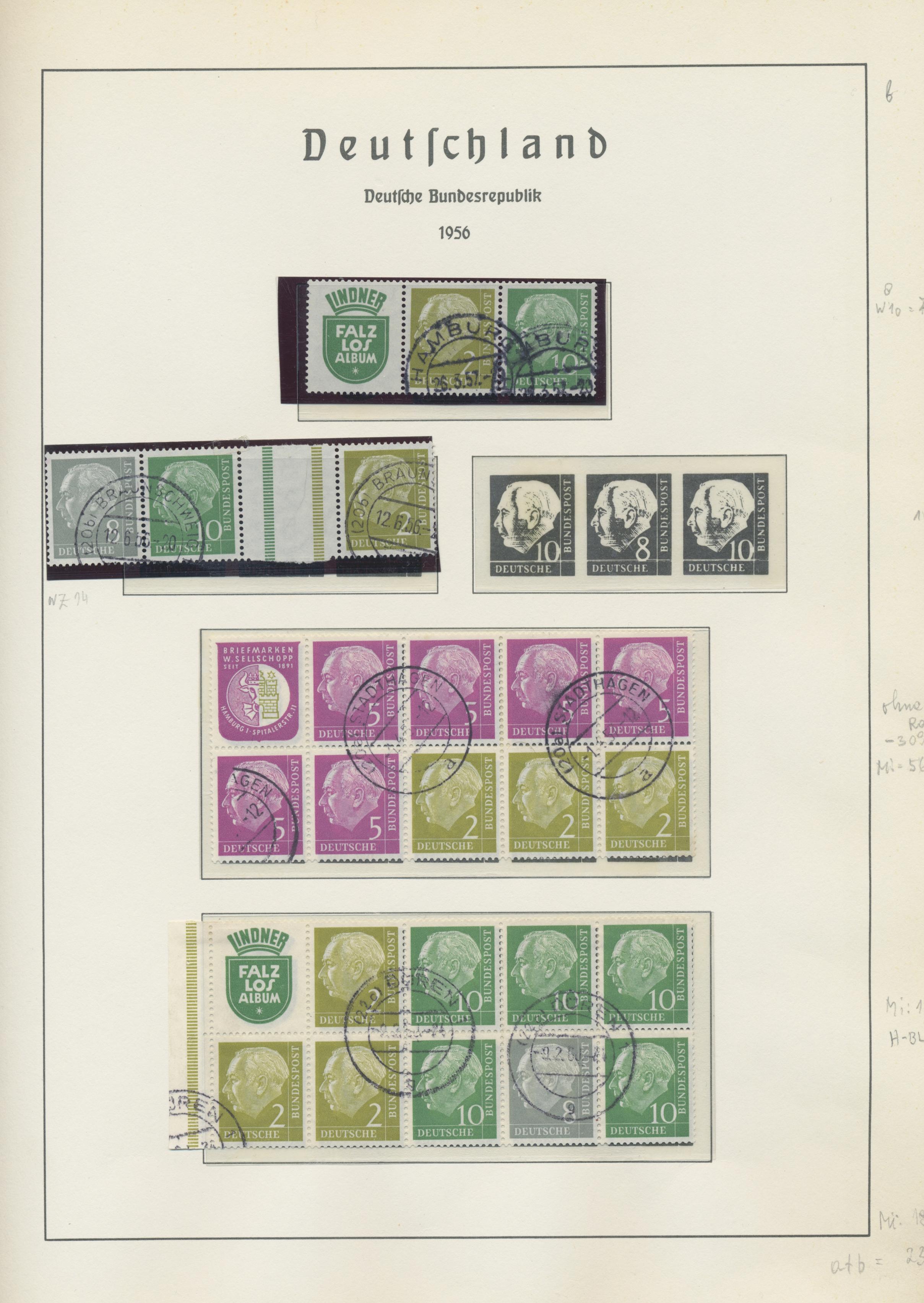 Lot 37690 - Bundesrepublik - Zusammendrucke  -  Auktionshaus Christoph Gärtner GmbH & Co. KG Sale #44 Collections Germany