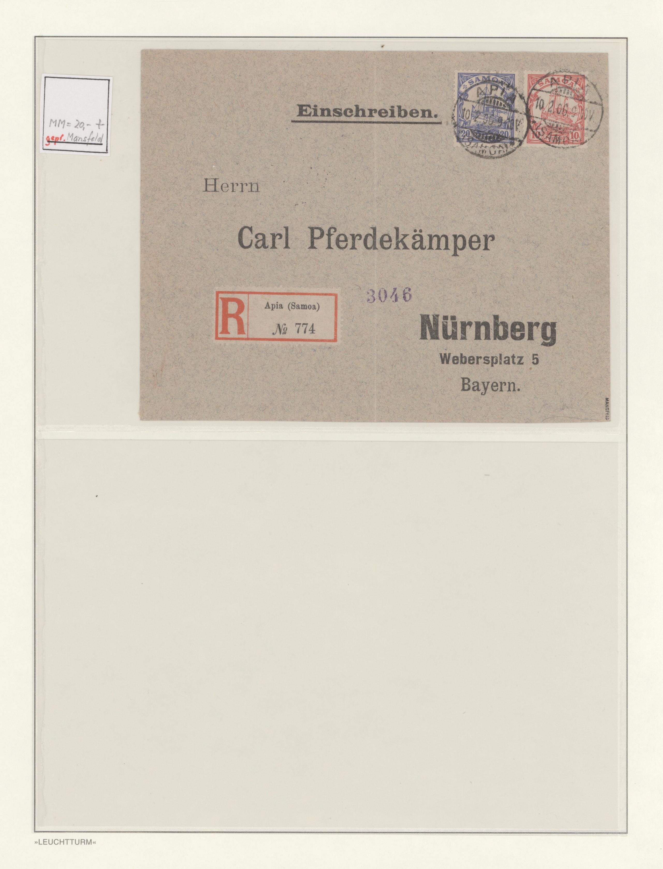Lot 14695 - Deutsche Kolonien - Samoa  -  Auktionshaus Christoph Gärtner GmbH & Co. KG 51th Auction - Day 5