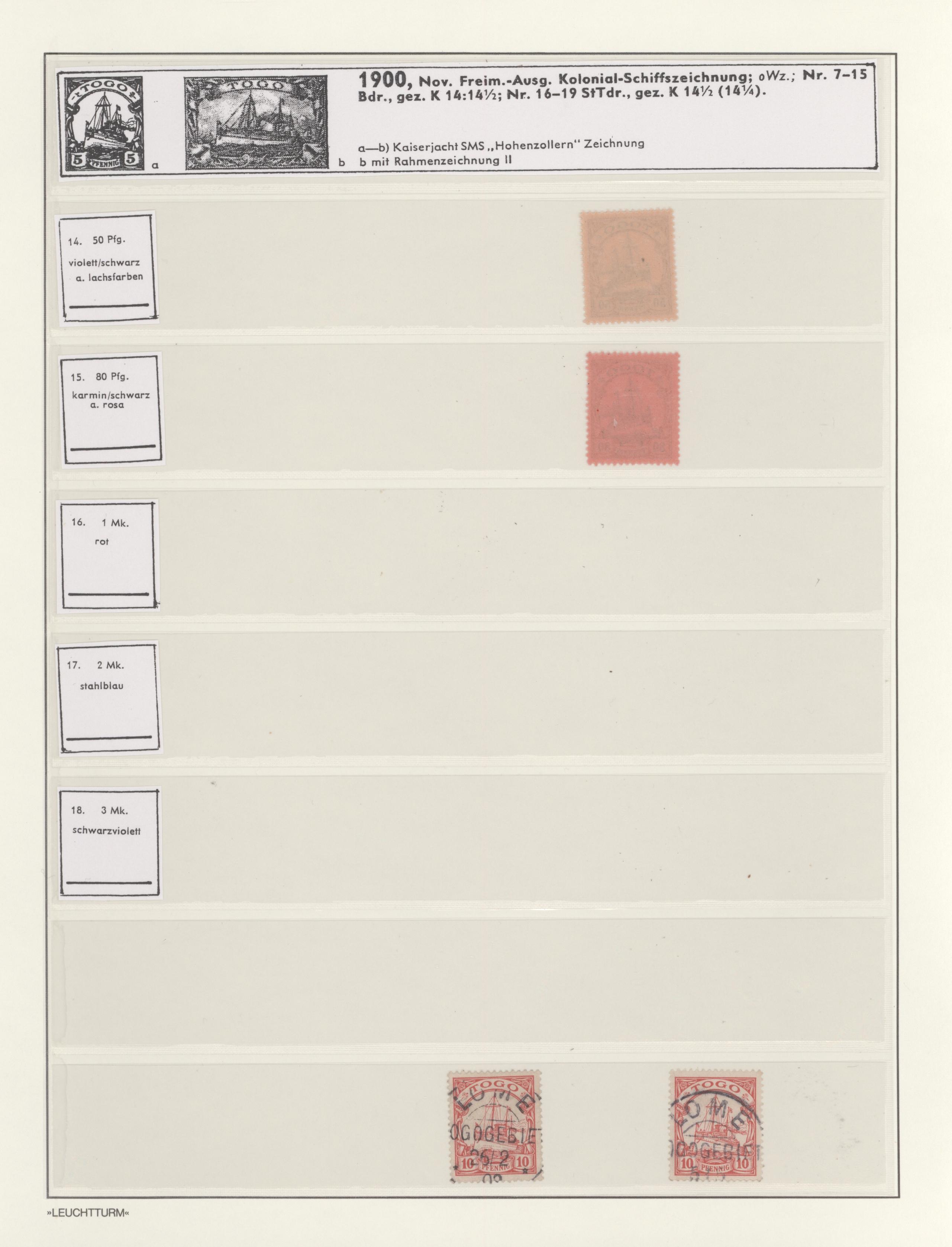 Lot 14696 - Deutsche Kolonien - Togo  -  Auktionshaus Christoph Gärtner GmbH & Co. KG 51th Auction - Day 5