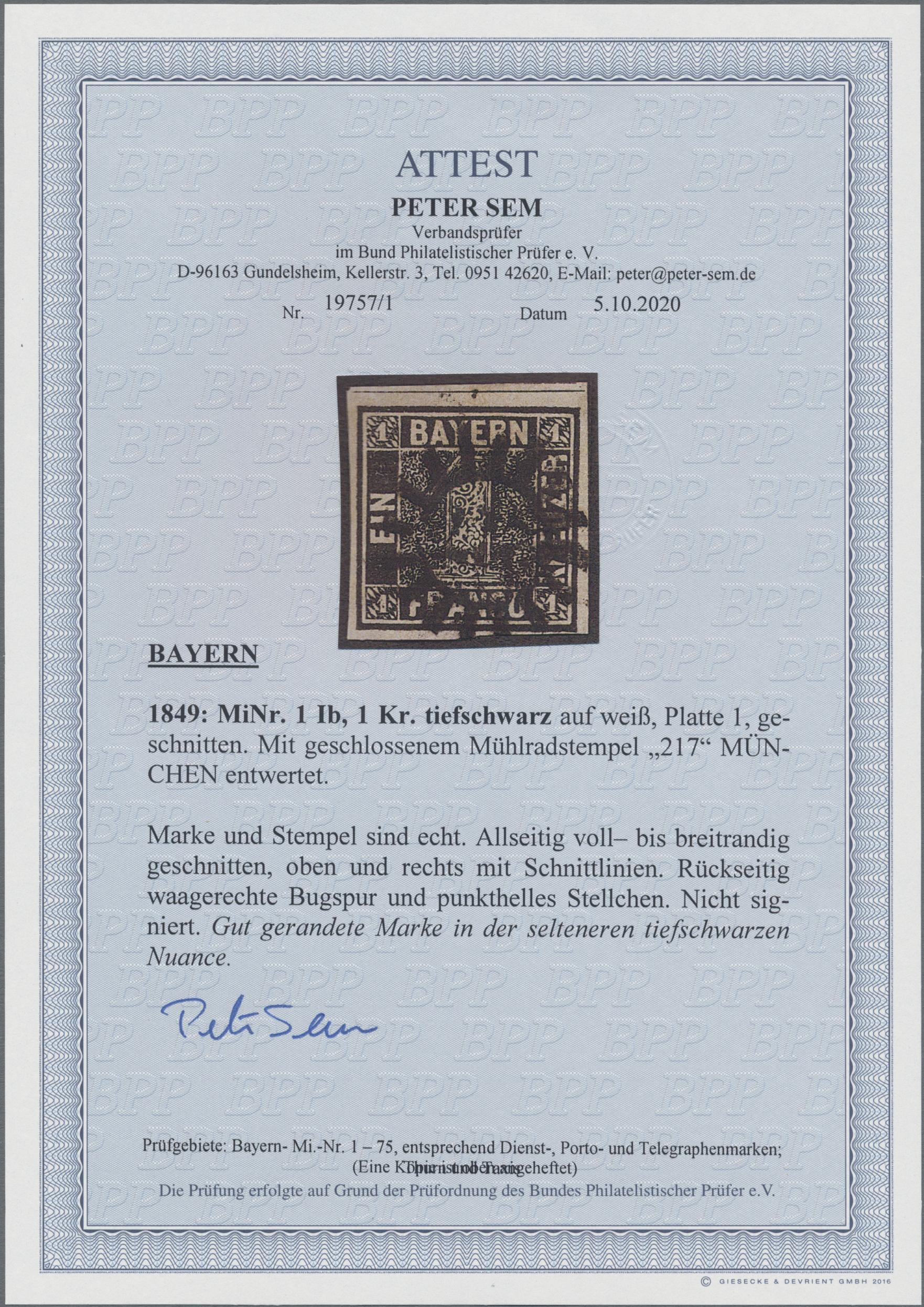 Lot 05023 - Bayern - Marken und Briefe  -  Auktionshaus Christoph Gärtner GmbH & Co. KG 51th Auction - Day 3