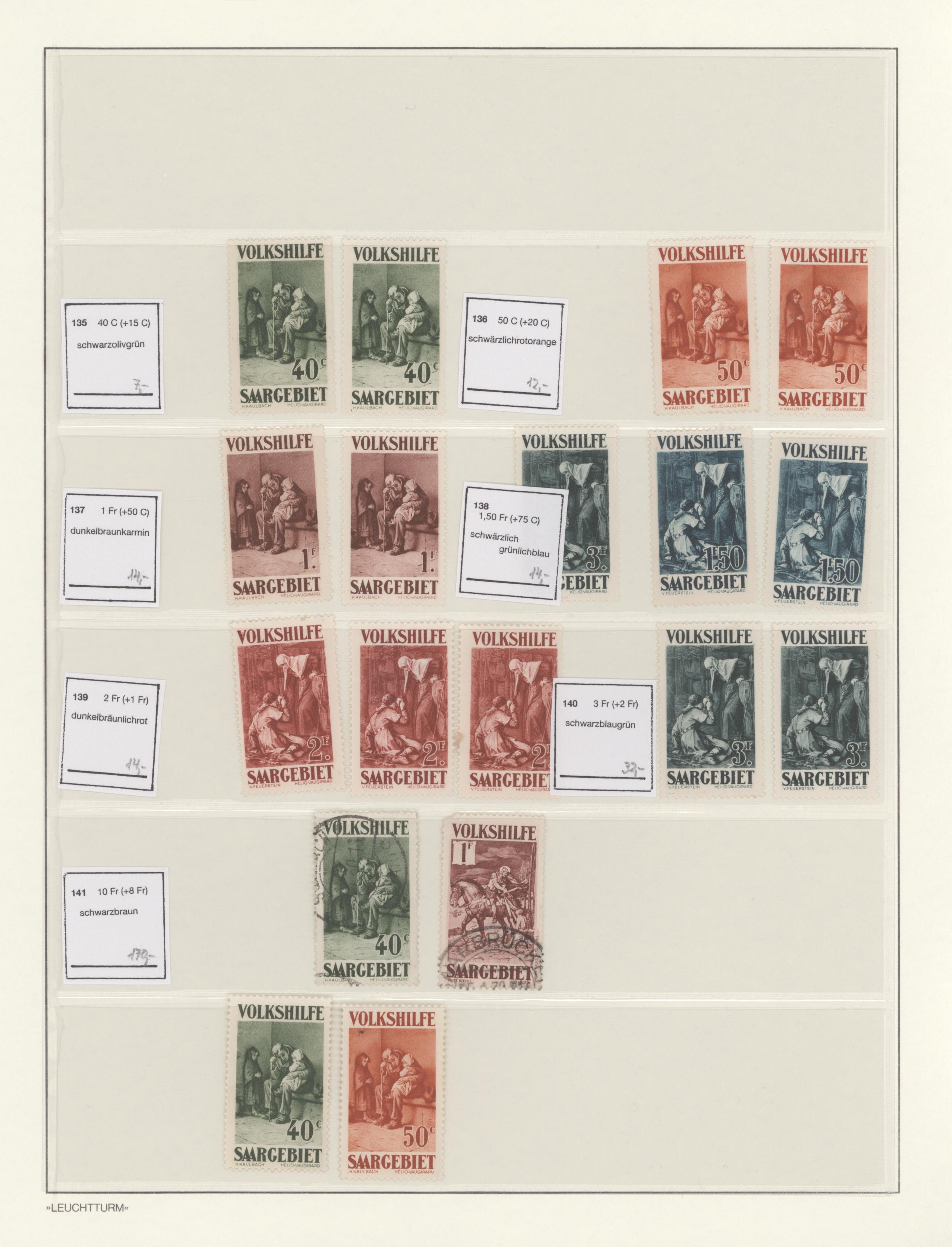 Lot 14753 - Deutsche Abstimmungsgebiete: Saargebiet  -  Auktionshaus Christoph Gärtner GmbH & Co. KG 51th Auction - Day 5