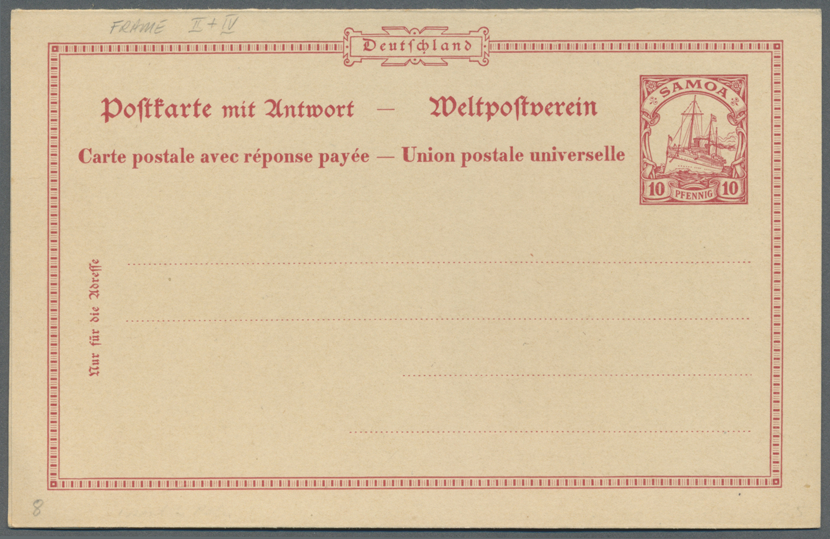 Lot 37242 - deutsche kolonien  -  Auktionshaus Christoph Gärtner GmbH & Co. KG Collections Germany,  Collections Supplement, Surprise boxes #39 Day 7