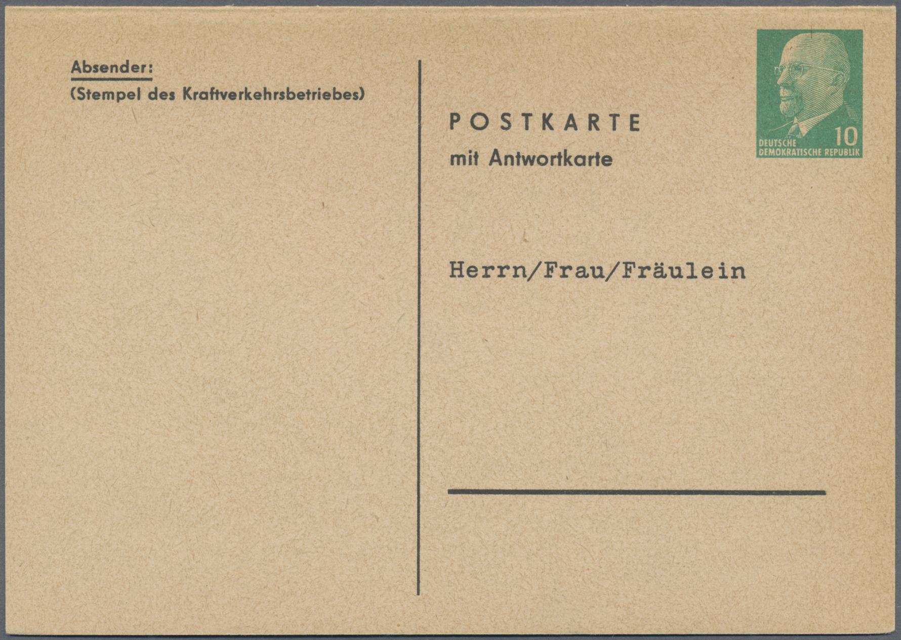 Lot 37410 - ddr - ganzsachen  -  Auktionshaus Christoph Gärtner GmbH & Co. KG Sale #44 Collections Germany