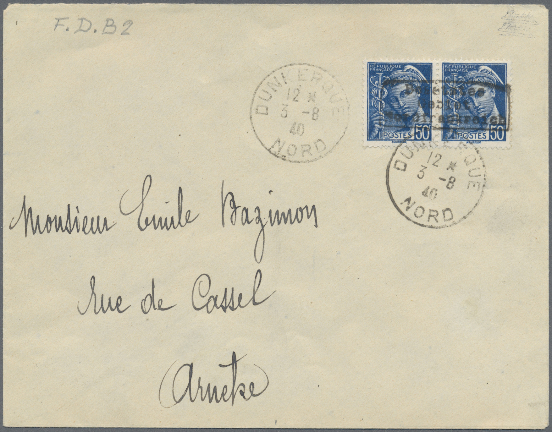 Lot 23276 - Dt. Besetzung II WK - Frankreich - Dünkirchen  -  Auktionshaus Christoph Gärtner GmbH & Co. KG Single lots Germany + Picture Postcards. Auction #39 Day 5