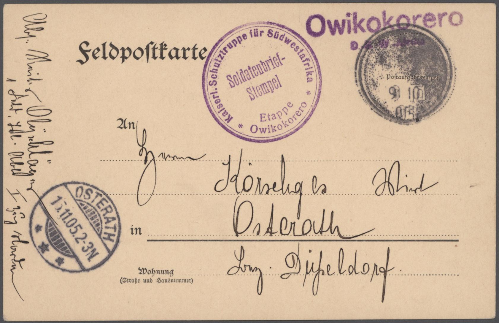 Lot 23582 - deutsch-südwestafrika  -  Auktionshaus Christoph Gärtner GmbH & Co. KG 50th Auction Anniversary Auction - Day 7