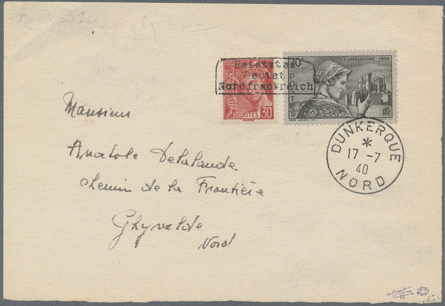 Lot 23287 - Dt. Besetzung II WK - Frankreich - Dünkirchen  -  Auktionshaus Christoph Gärtner GmbH & Co. KG Single lots Germany + Picture Postcards. Auction #39 Day 5